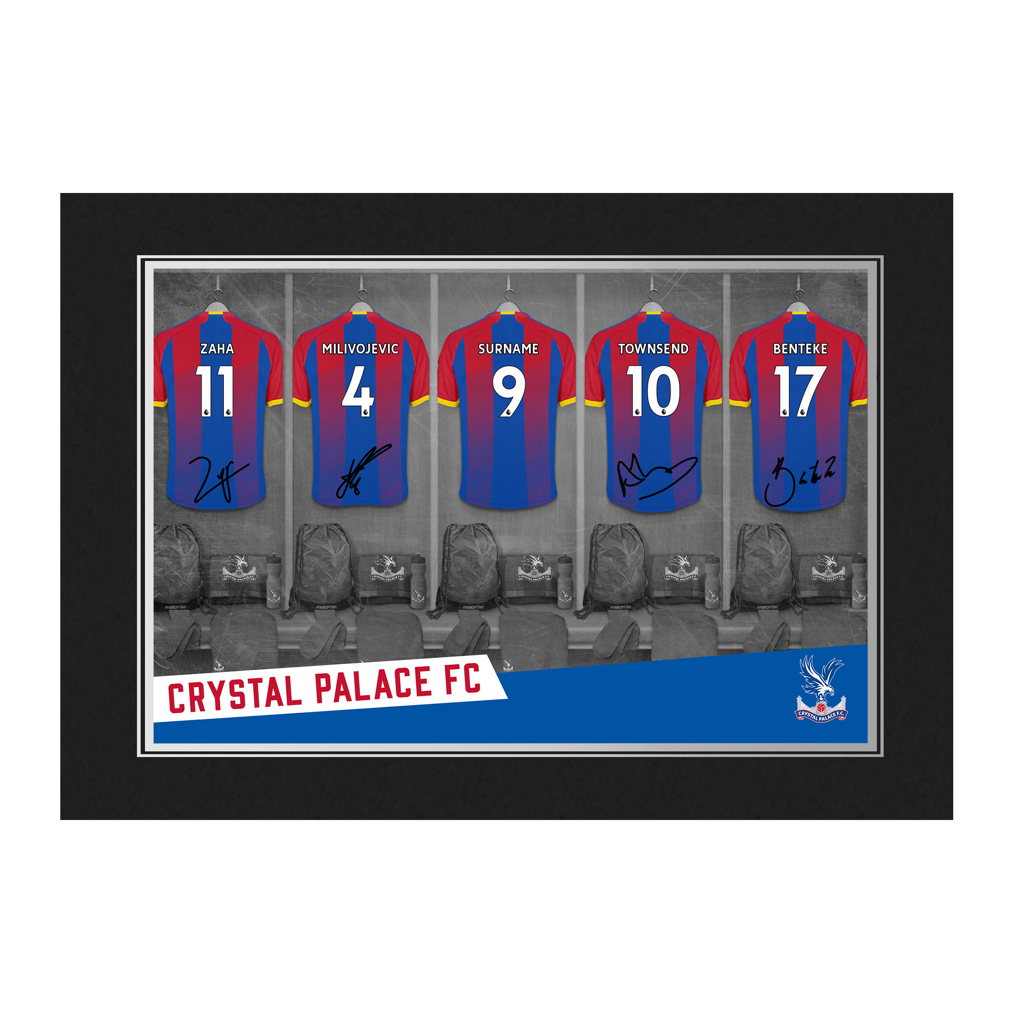 Crystal Palace FC 9x6 Dressing Room Photo Folder