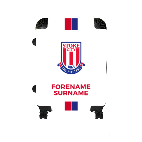Stoke City FC Stripe Medium Suitcase