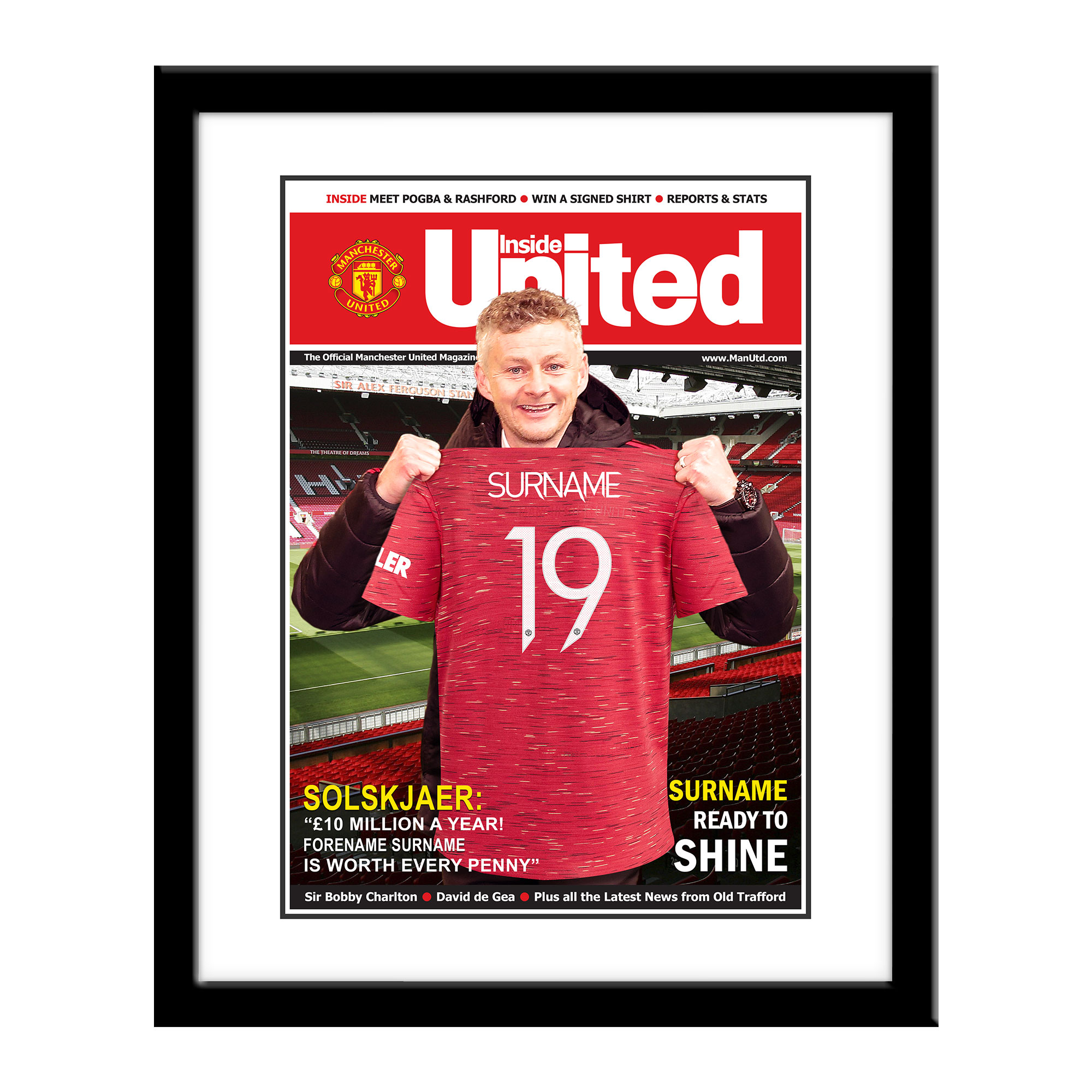 Manchester United FC Magazine Front Cover Framed Print