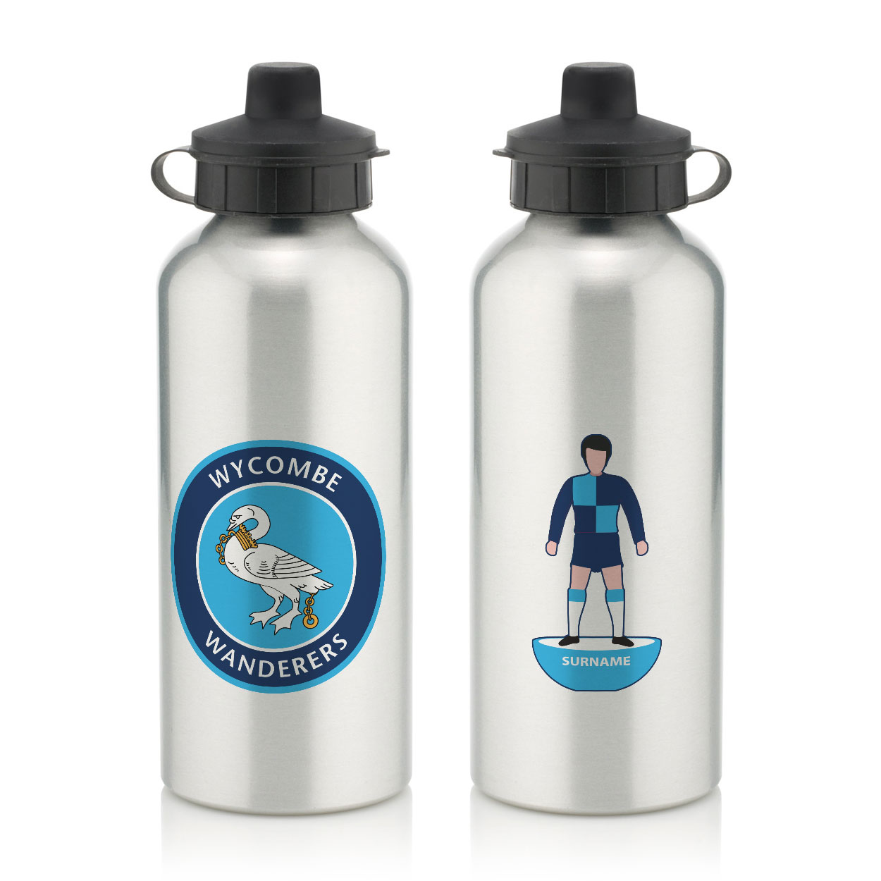 Wycombe Wanderers Player Figure Water Bottle