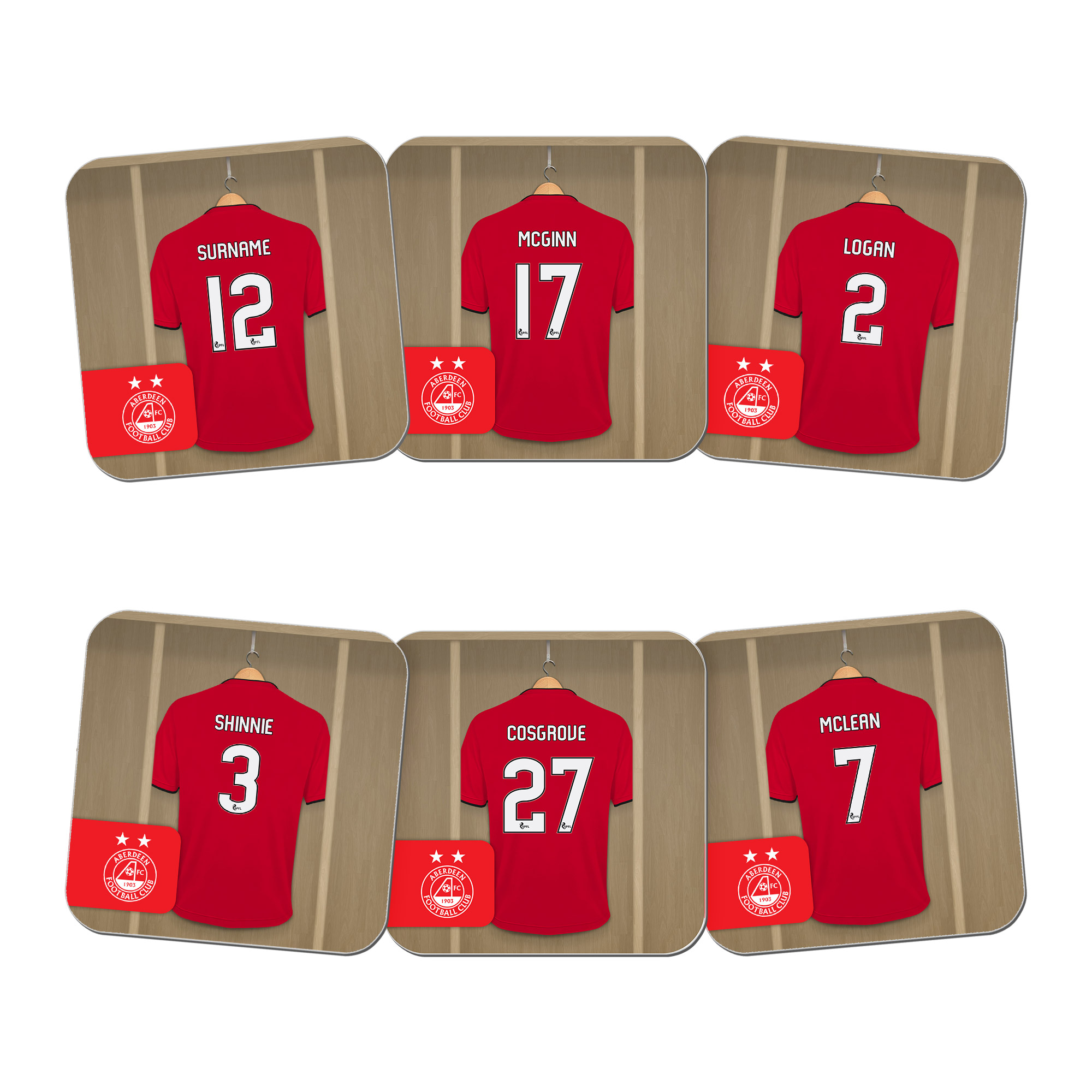 Aberdeen FC Dressing Room Coasters