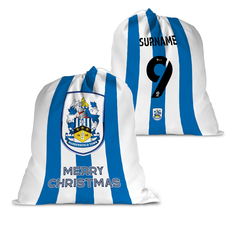 Huddersfield Town AFC Back of Shirt Santa Sack