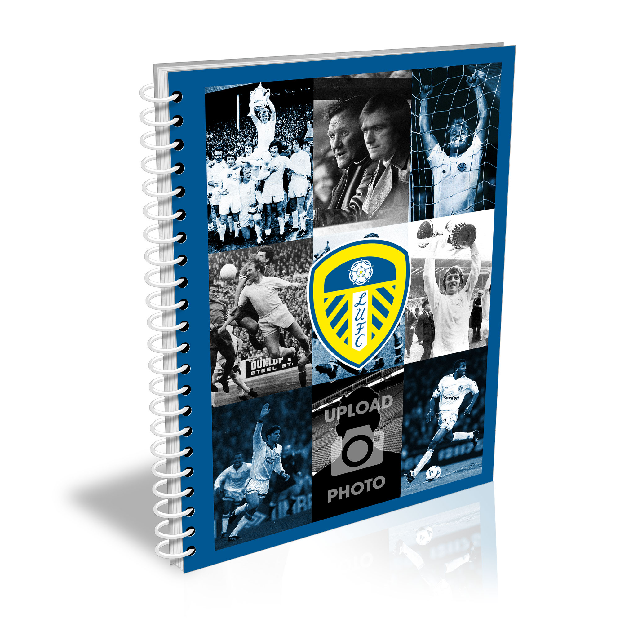 Leeds United FC Legends Photo A5 Plain Notepad
