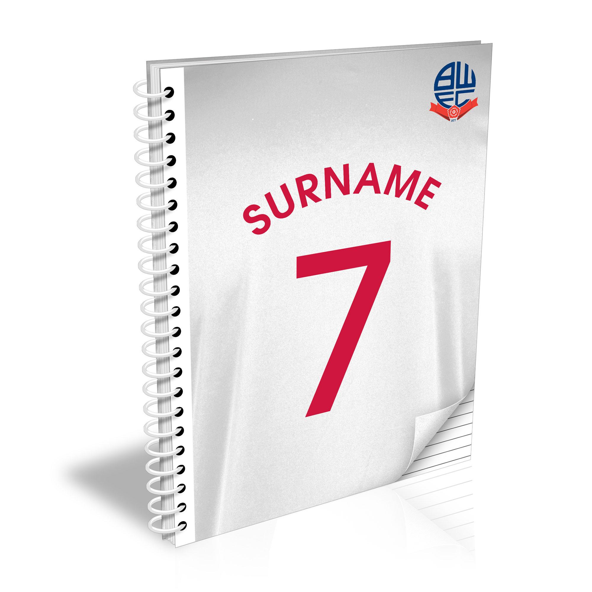 Bolton Wanderers FC Shirt Notebook