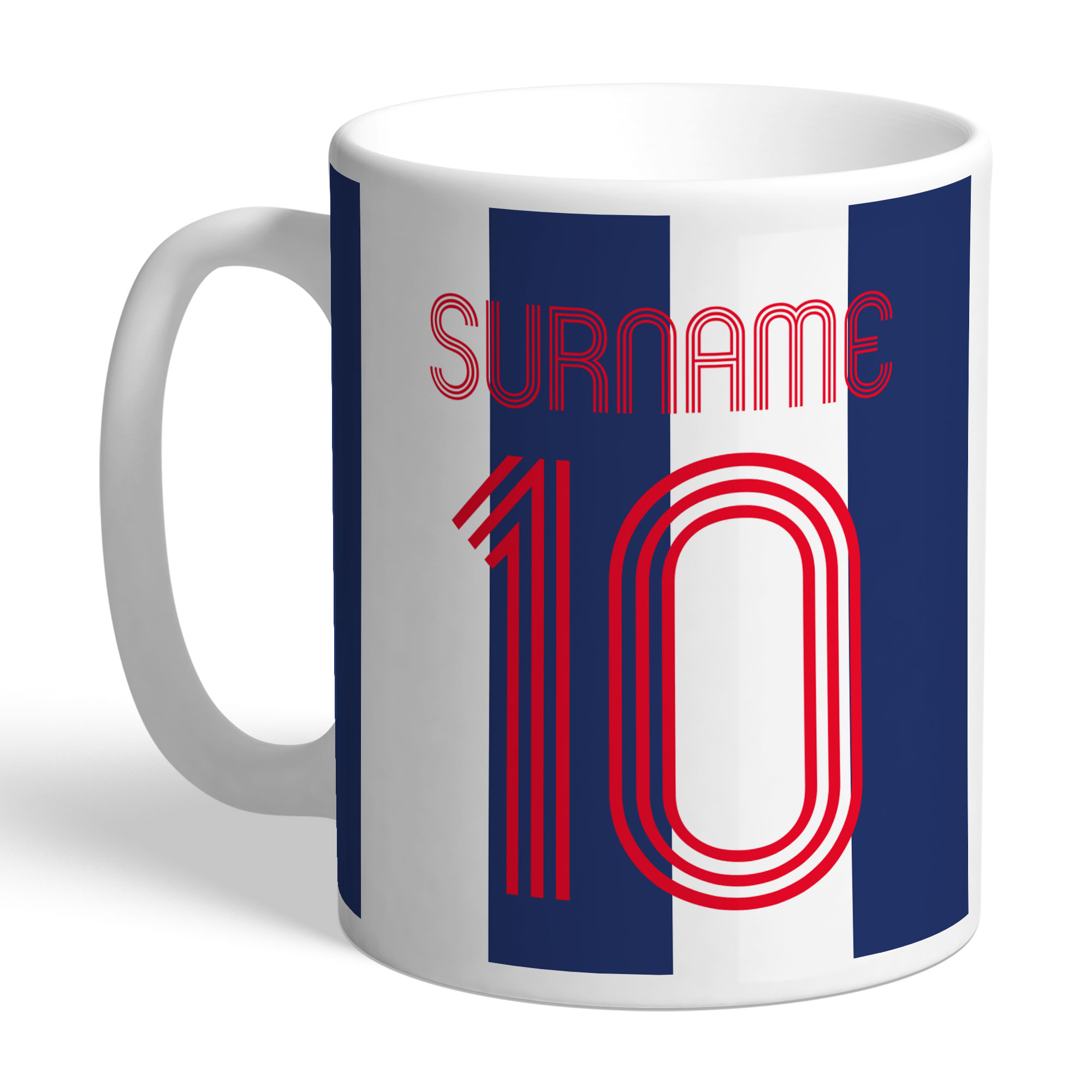 West Bromwich Albion FC Retro Shirt Mug