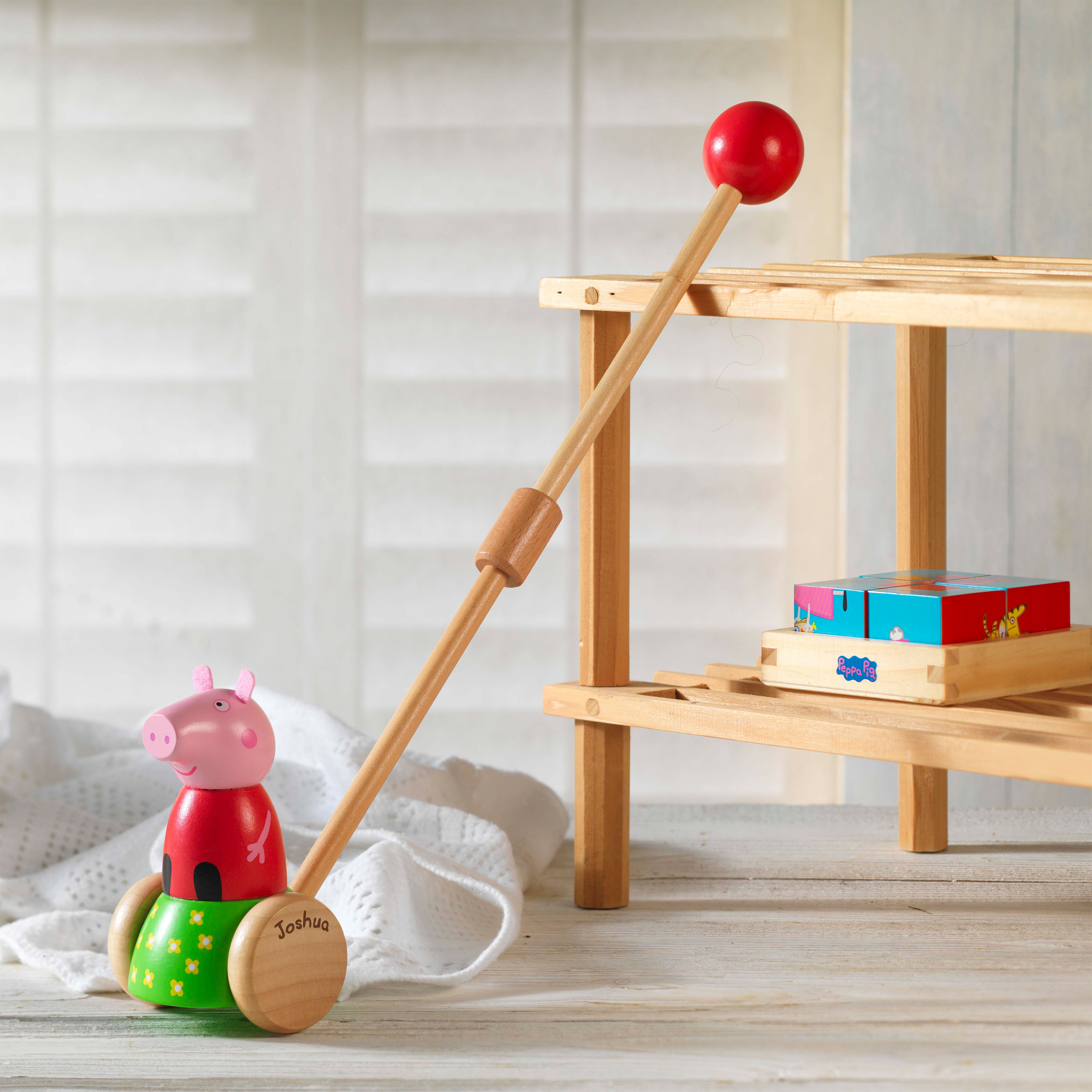 Peppa Pig Wooden Push Along