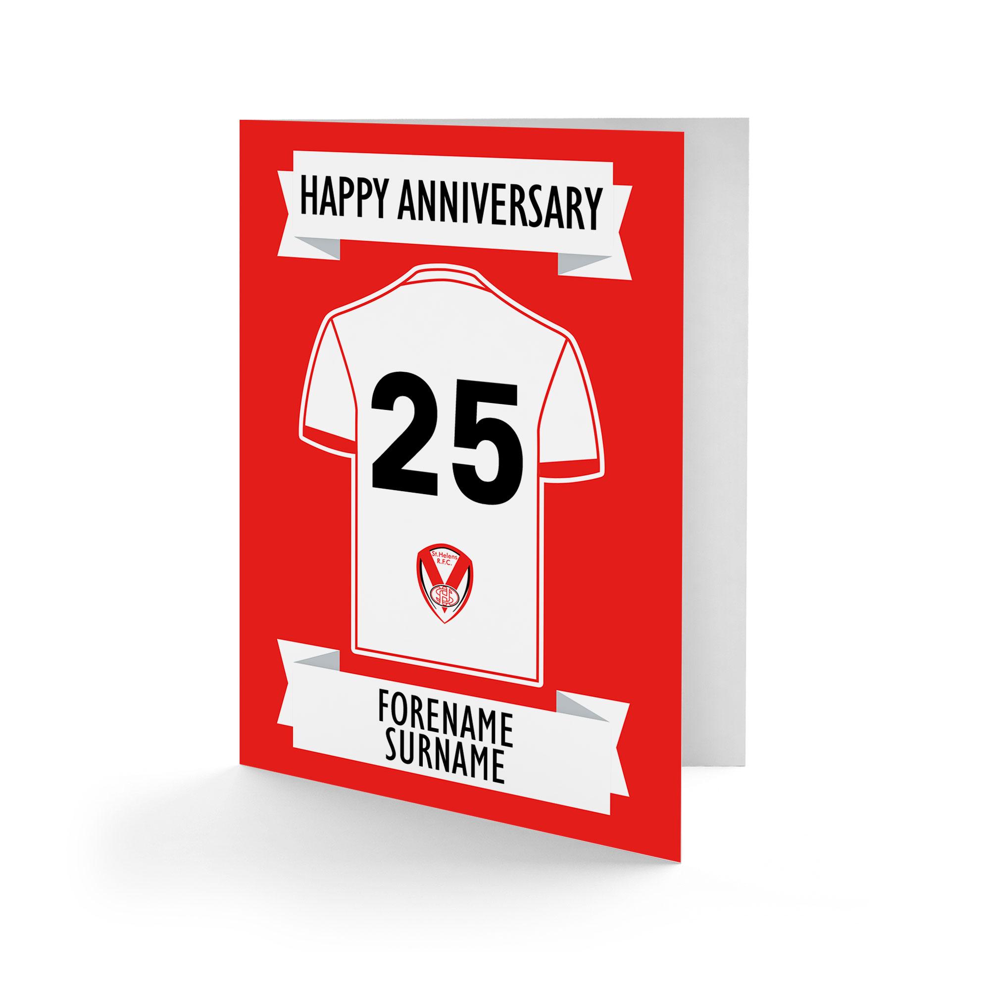 St Helens Shirt Anniversary Card
