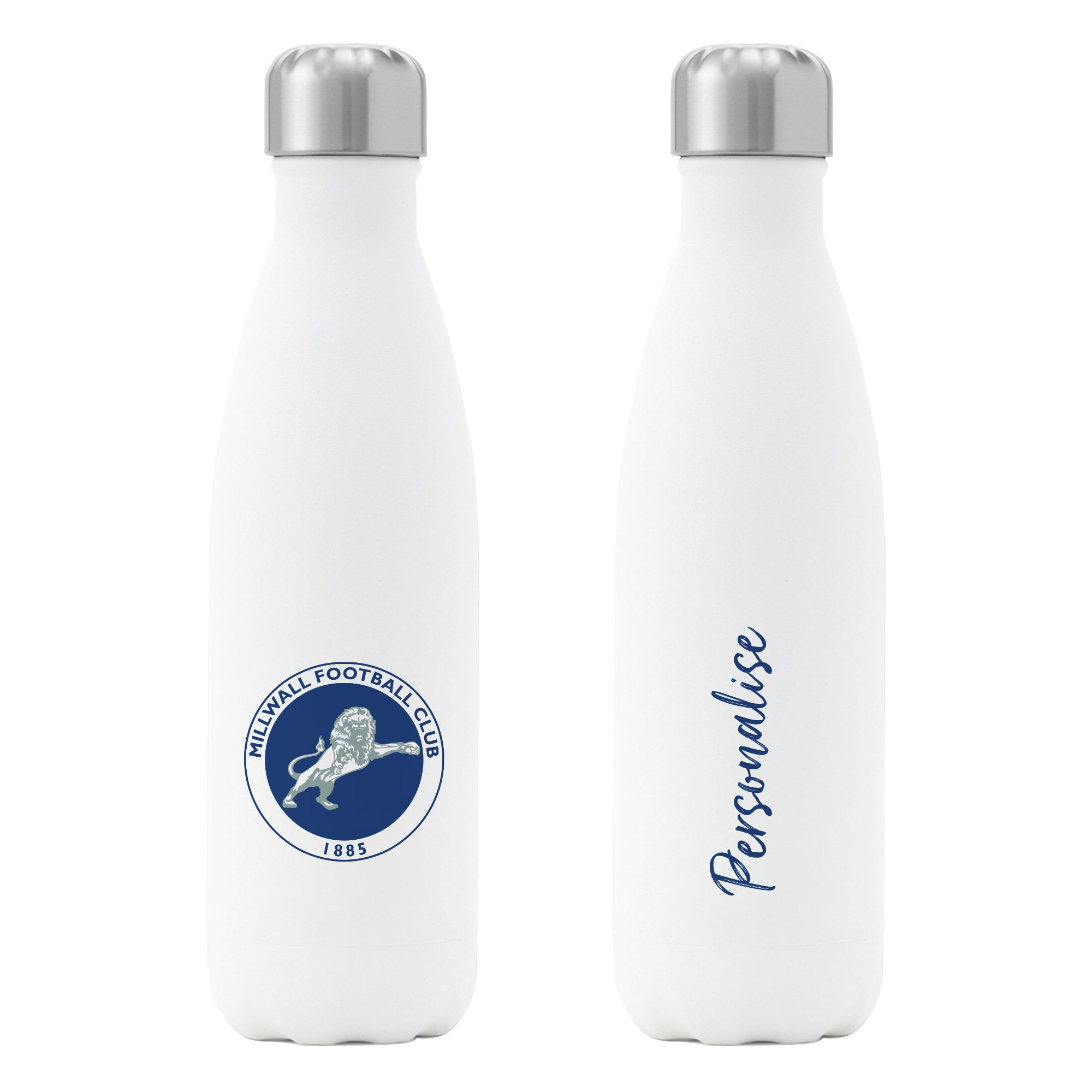 Millwall FC Crest Insulated Water Bottle - White