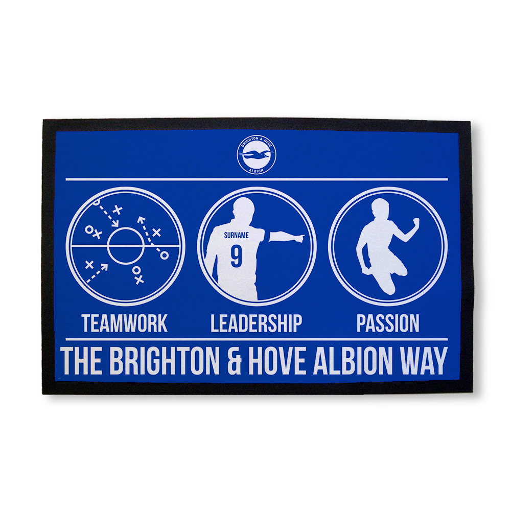 Brighton & Hove Albion FC Way Door Mat