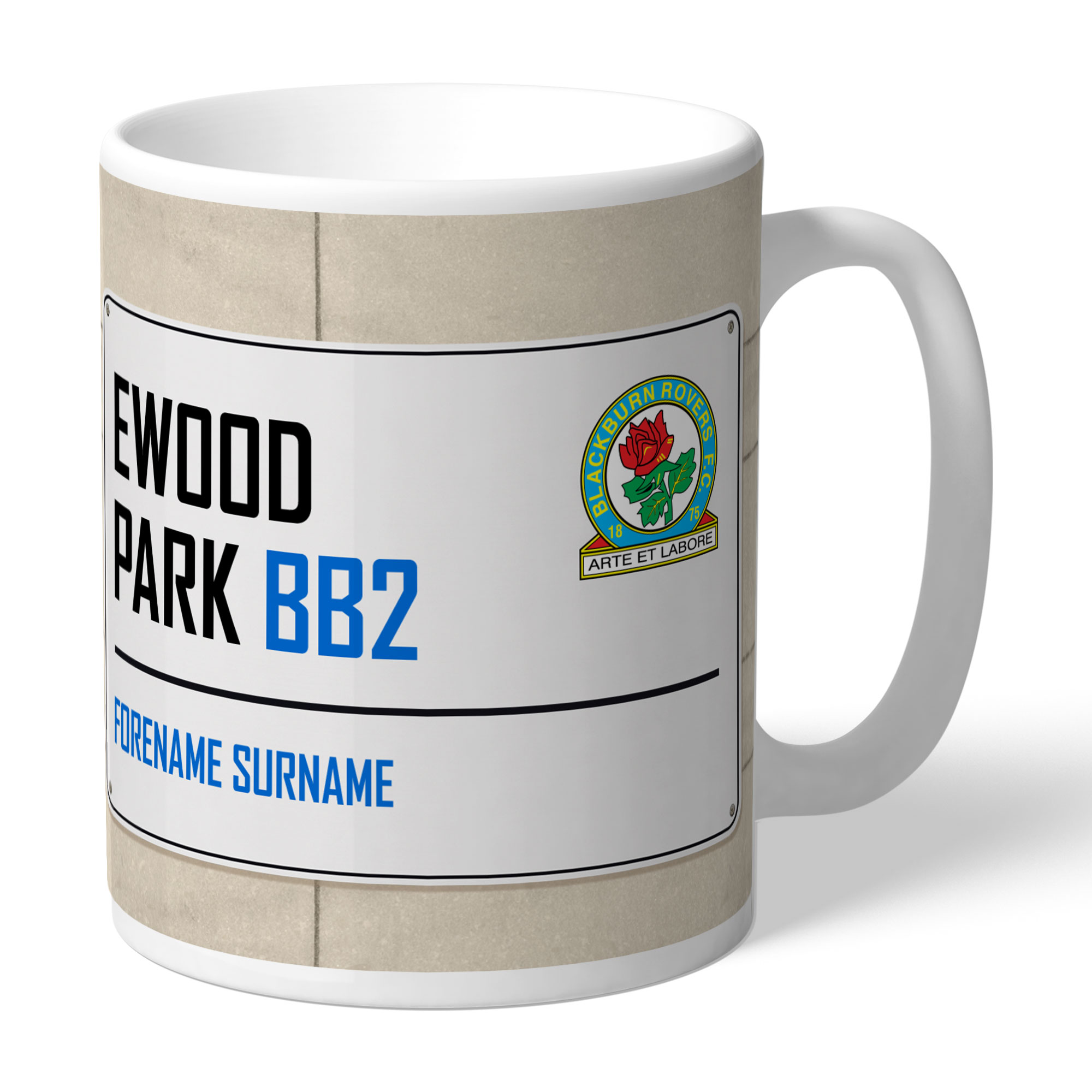 Blackburn Rovers FC Street Sign Mug