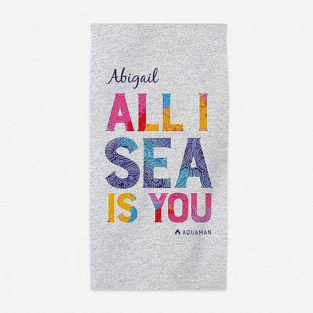 Aquaman™ All I Sea Is You Beach Towel