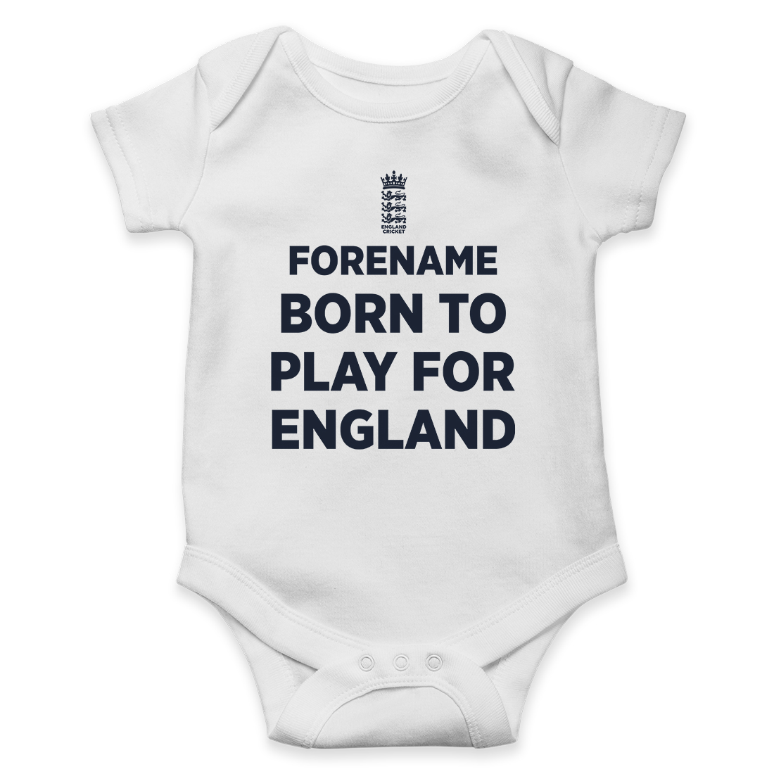 England Cricket Born to Play Baby Bodysuit