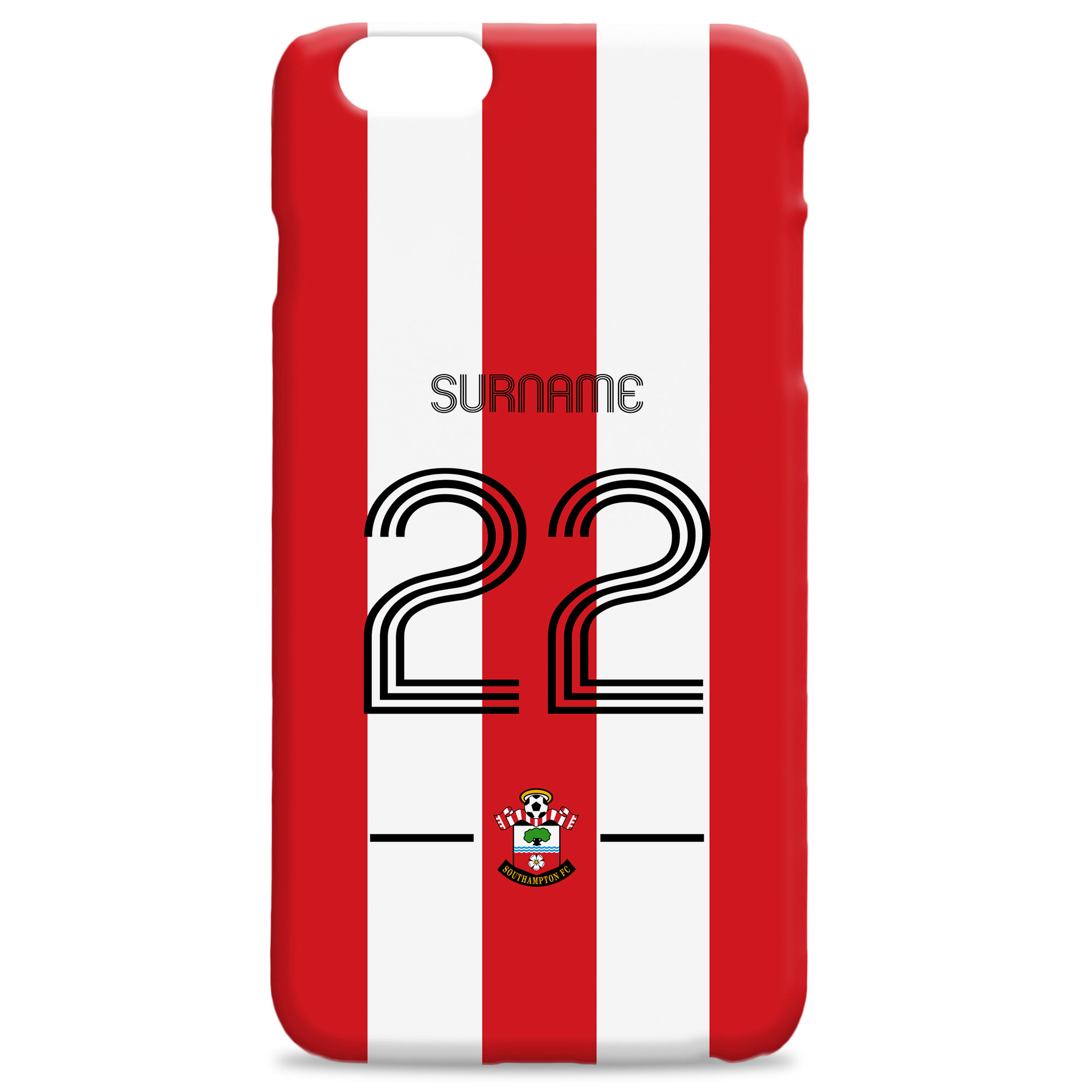 Southampton FC Retro Shirt Hard Back Phone Case