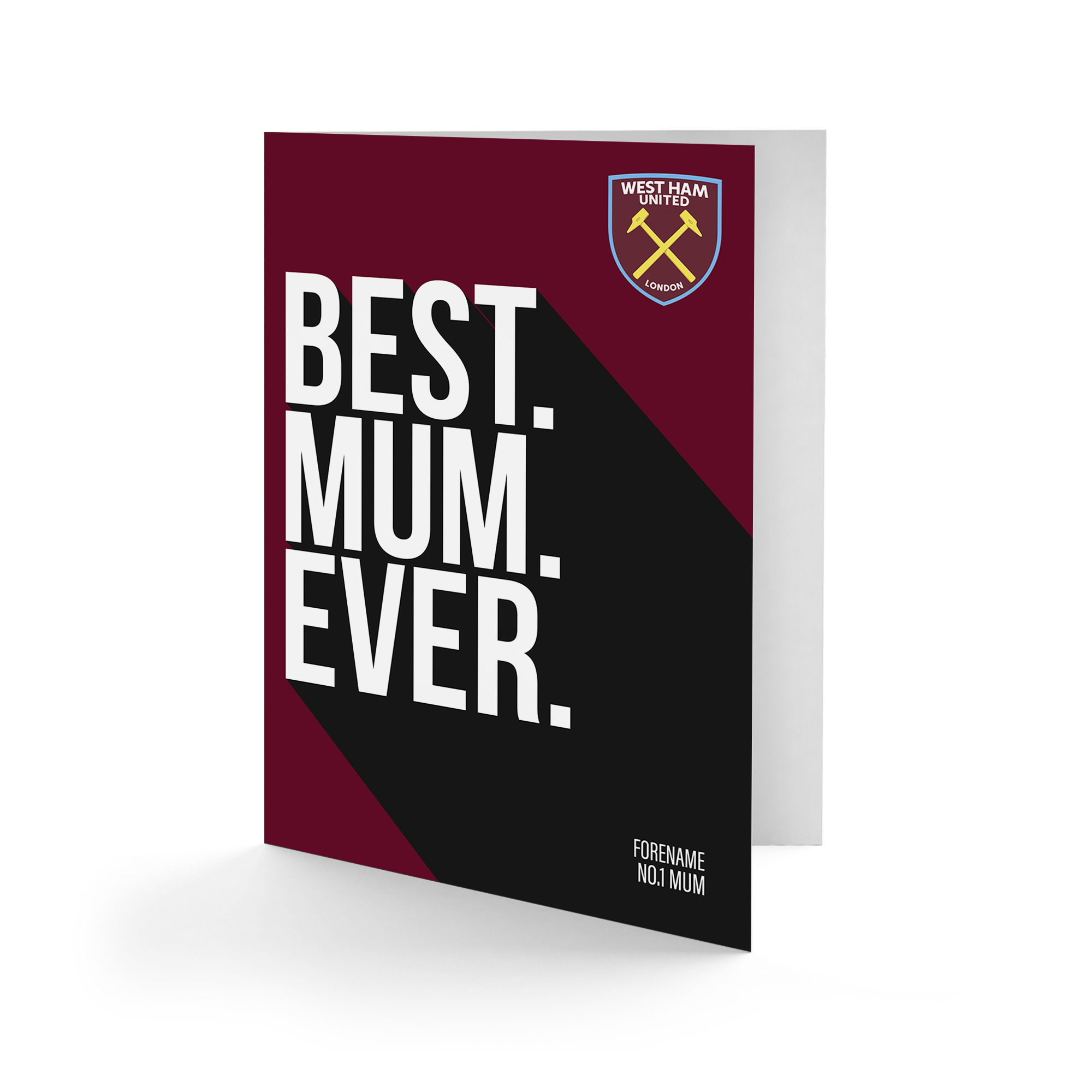 West Ham United FC Best Mum Ever Card
