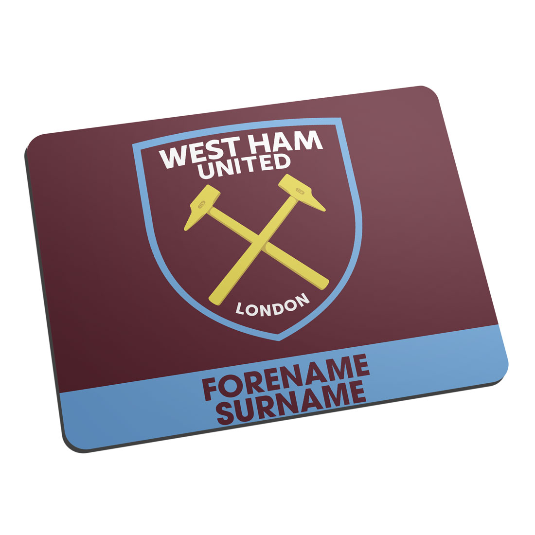 West Ham United FC Bold Crest Mouse Mat