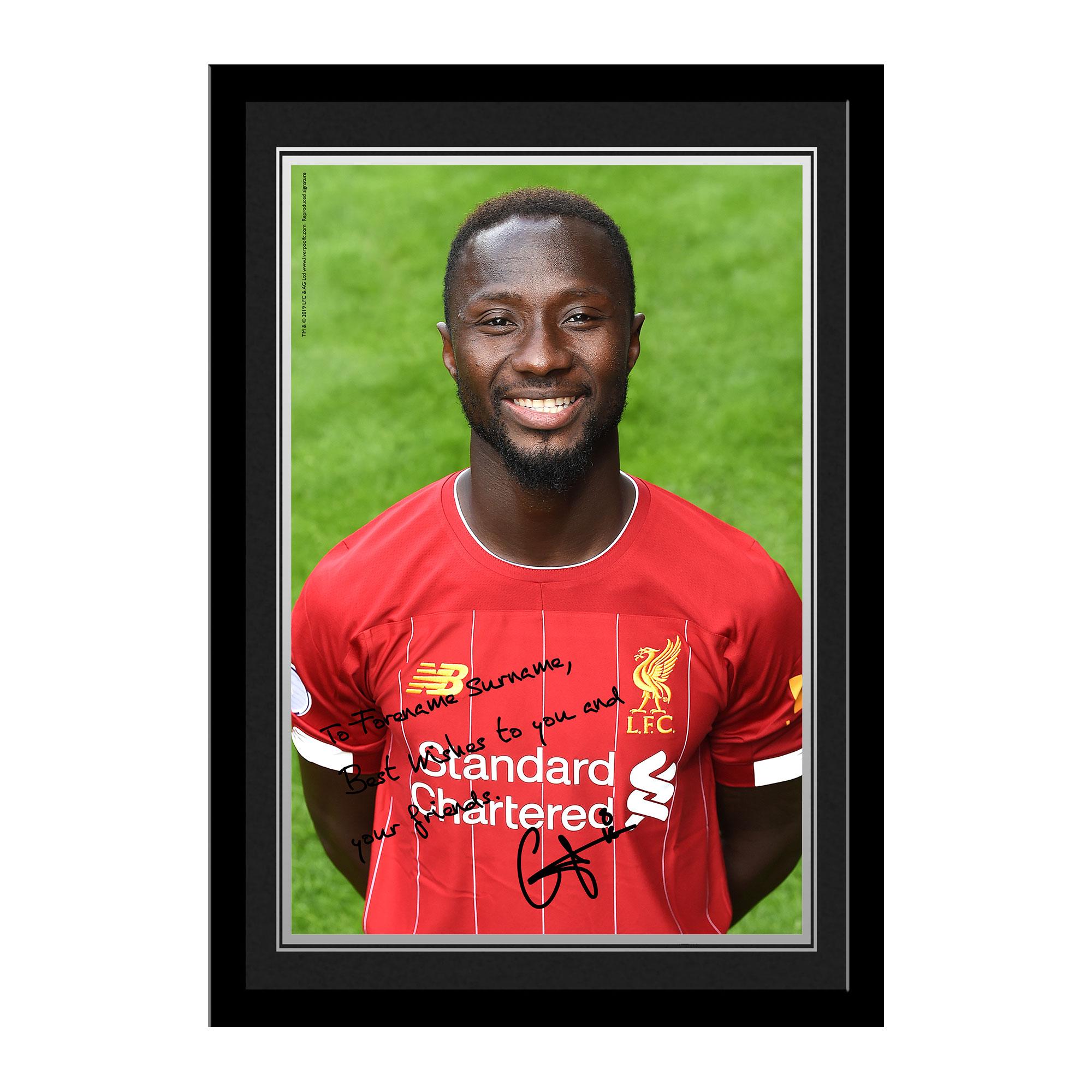 Liverpool FC Keita Autograph Photo Framed
