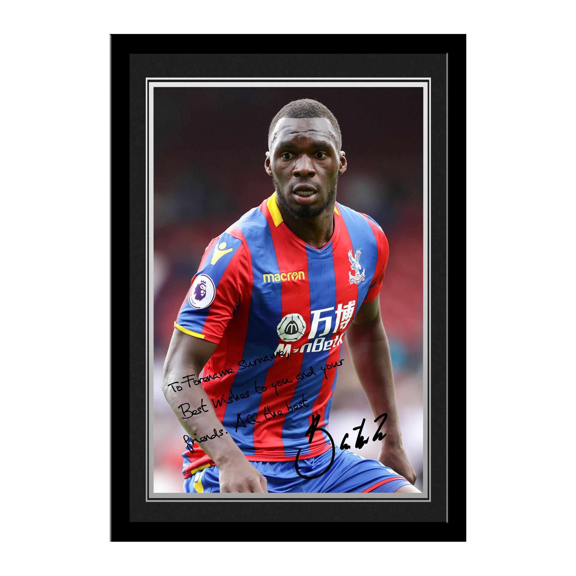 Crystal Palace FC Benteke Autograph Photo Framed