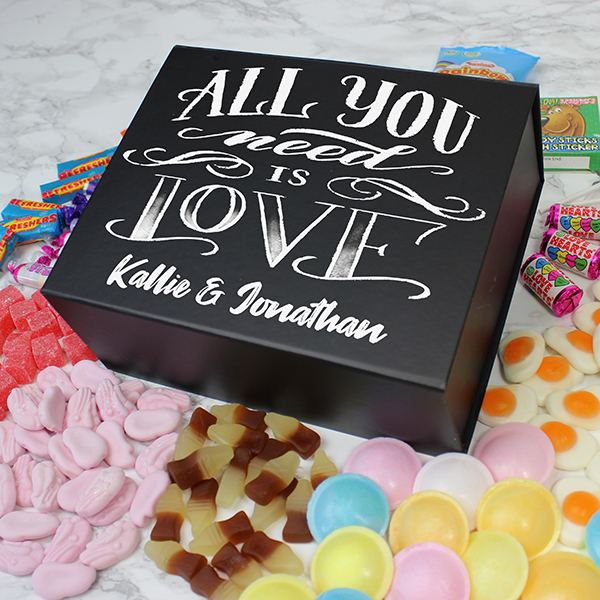 All You Need Is Love Deluxe Sweet Box - Black