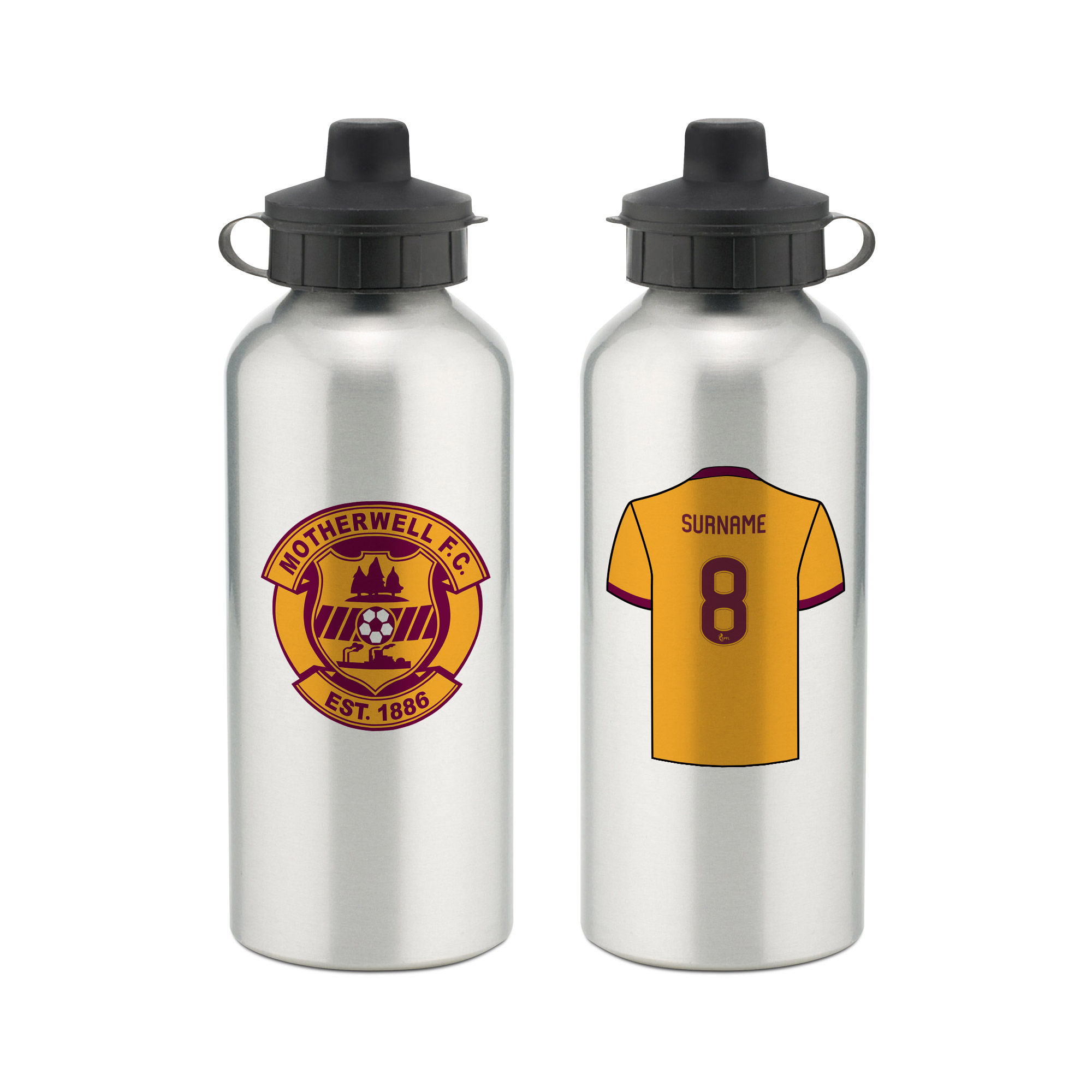 Motherwell FC Aluminium Water Bottle