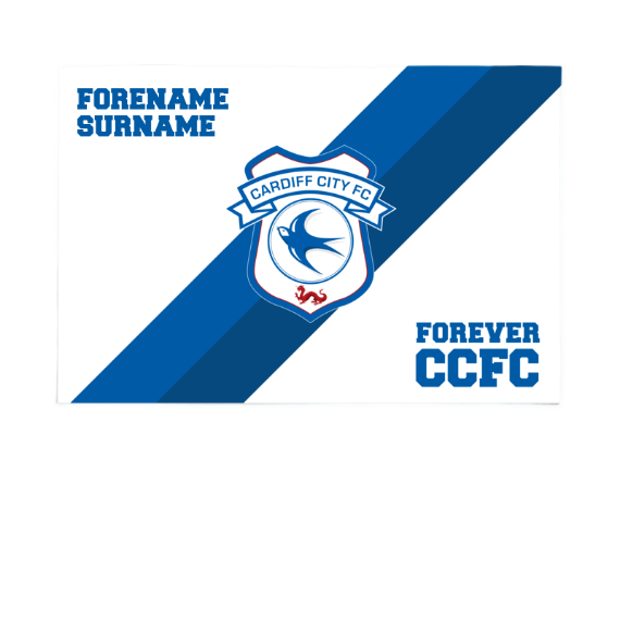 Cardiff City FC Forever 6ft x 4ft Banner