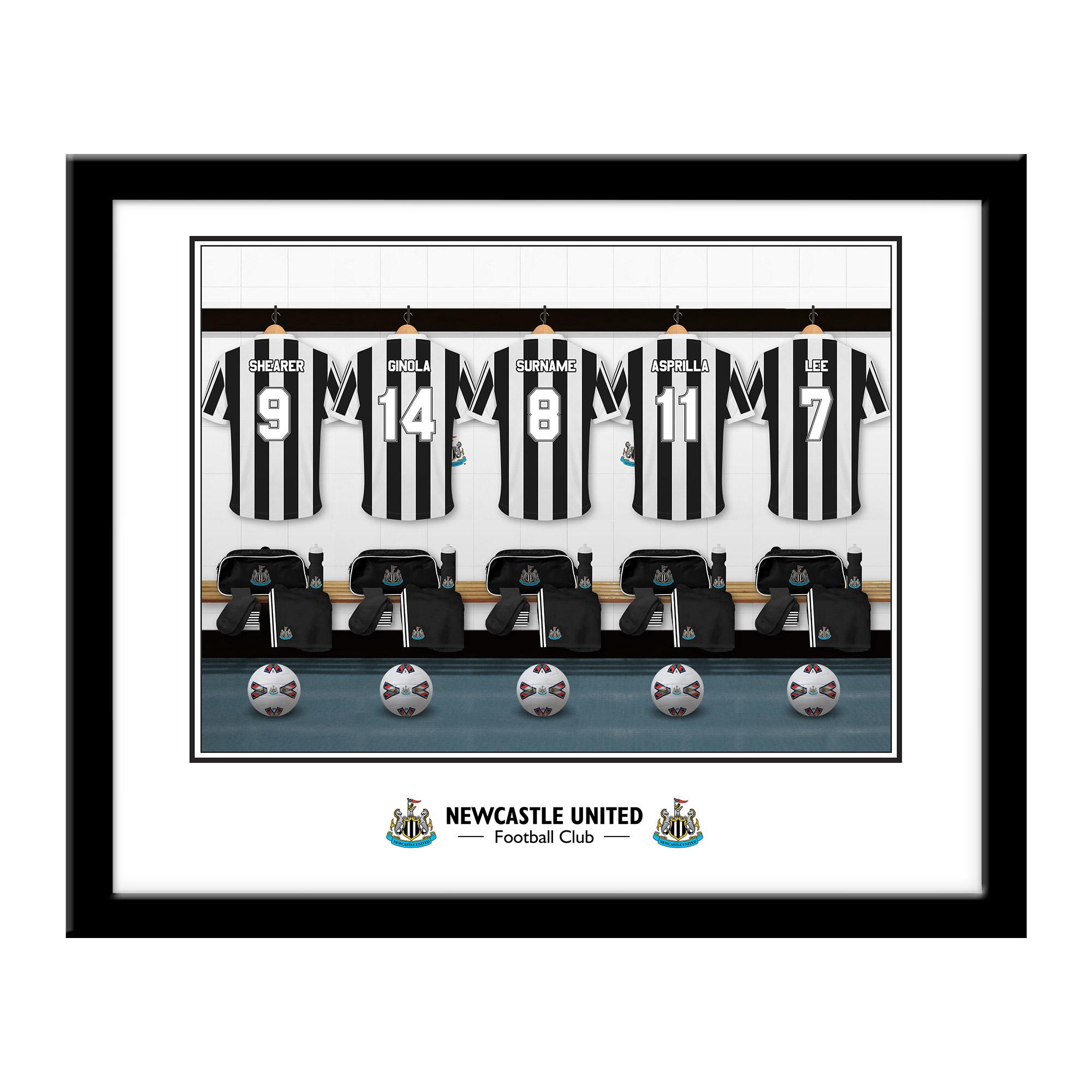 Newcastle United FC Legends Dressing Room Framed Print