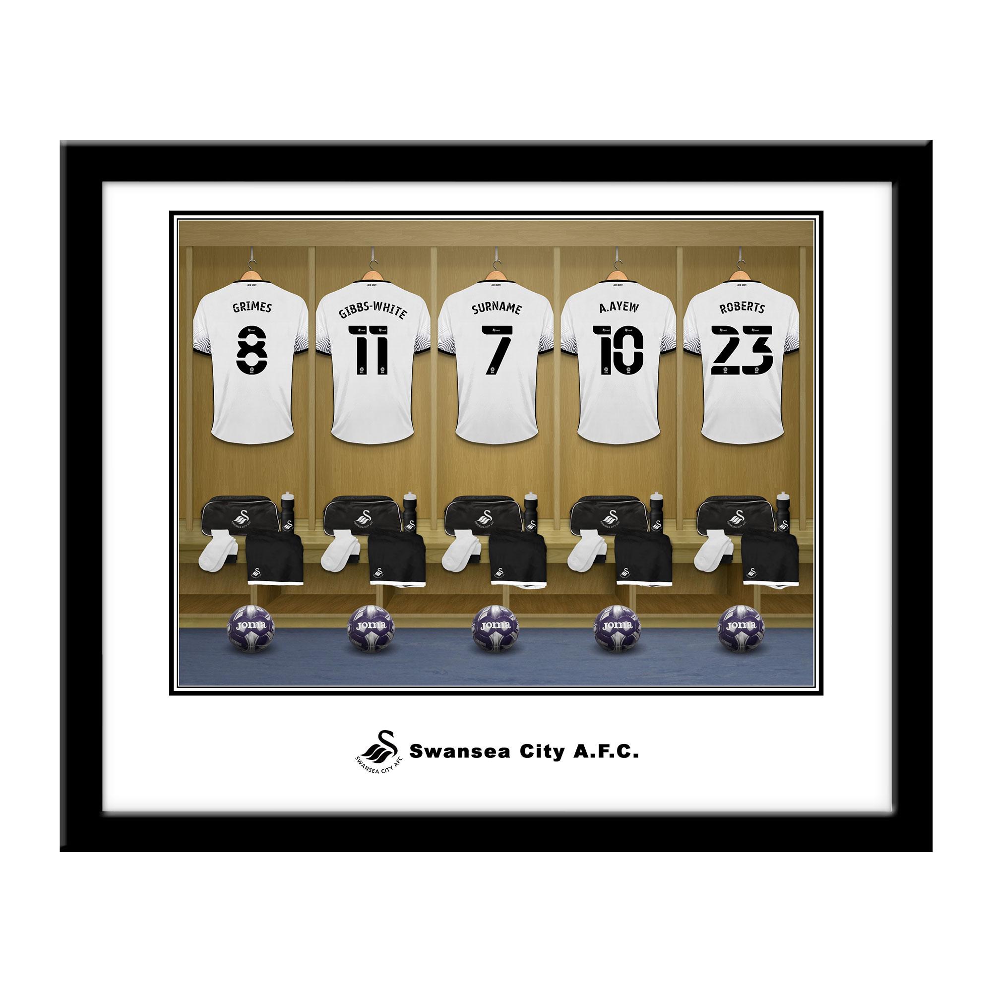 Swansea City AFC Dressing Room Framed Print