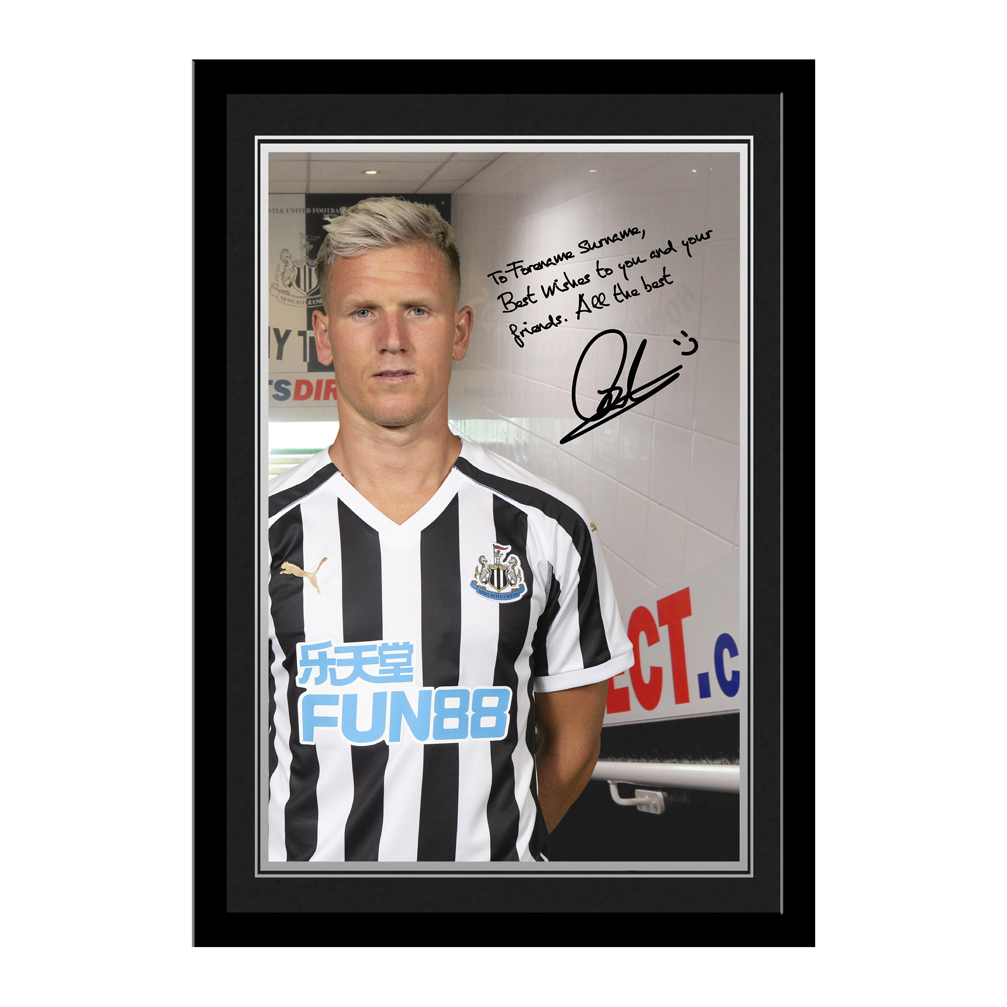 Newcastle United FC Ritchie Autograph Photo Framed