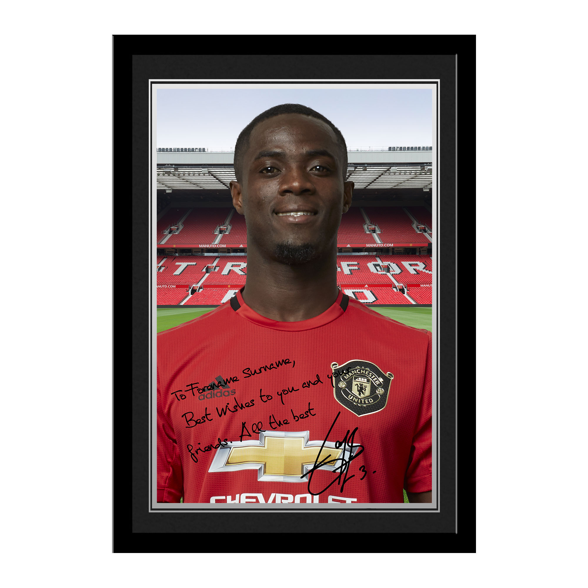 Manchester United FC Bailly Autograph Photo Framed