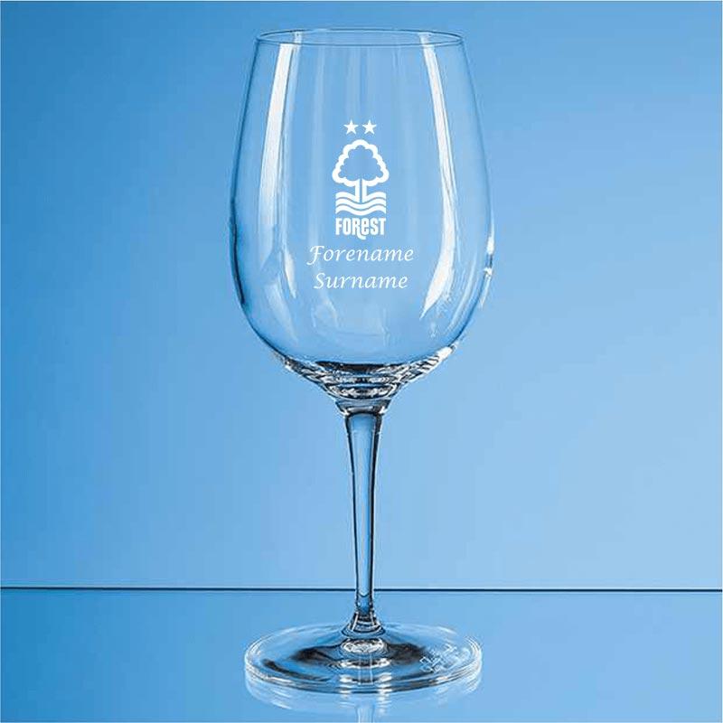 Nottingham Forest FC Crest Allegro Wine Glass