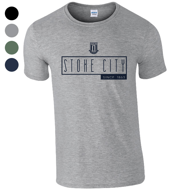 Stoke City FC Art Deco T-Shirt