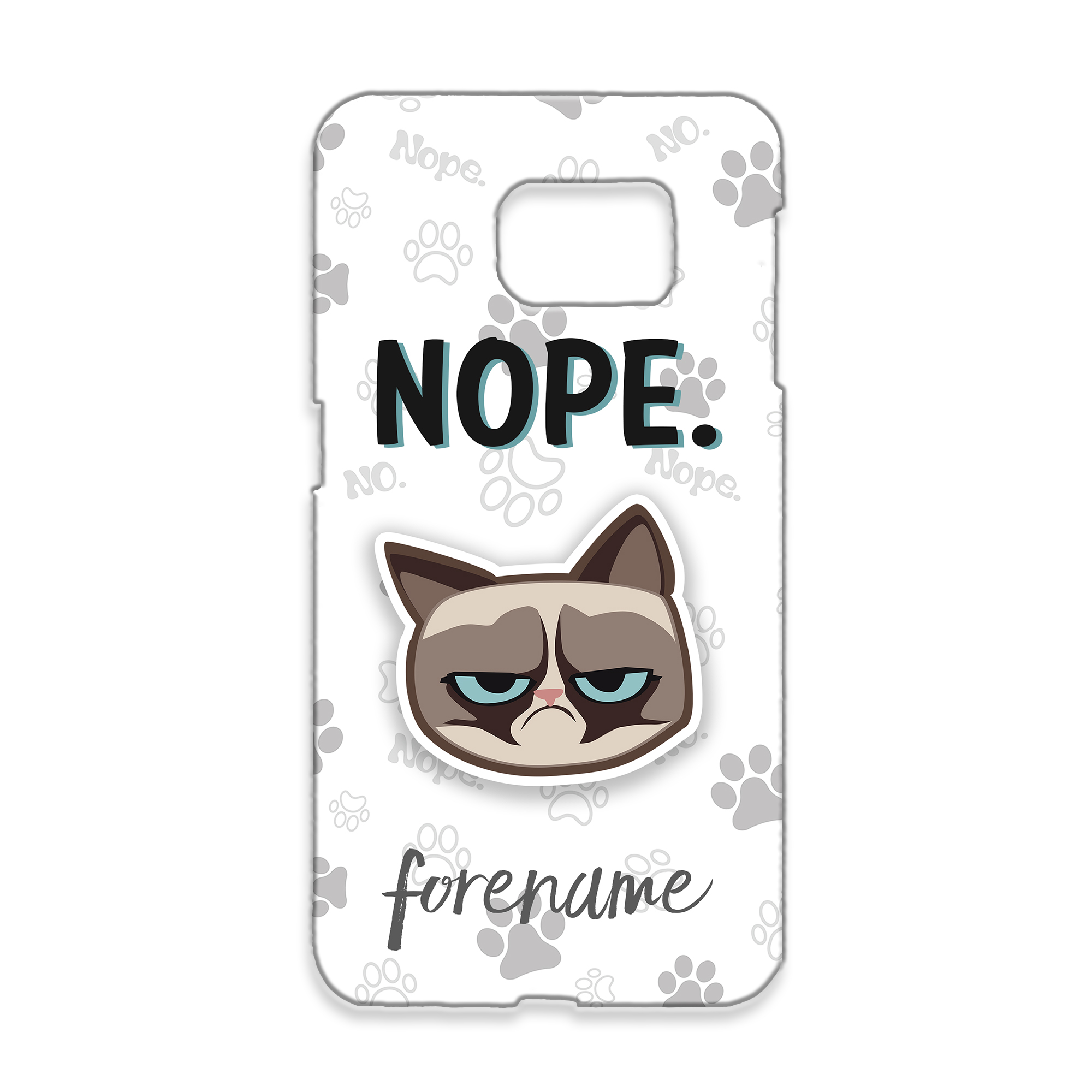 Grumpy Cat Emoji - Nope Samsung Case Grey