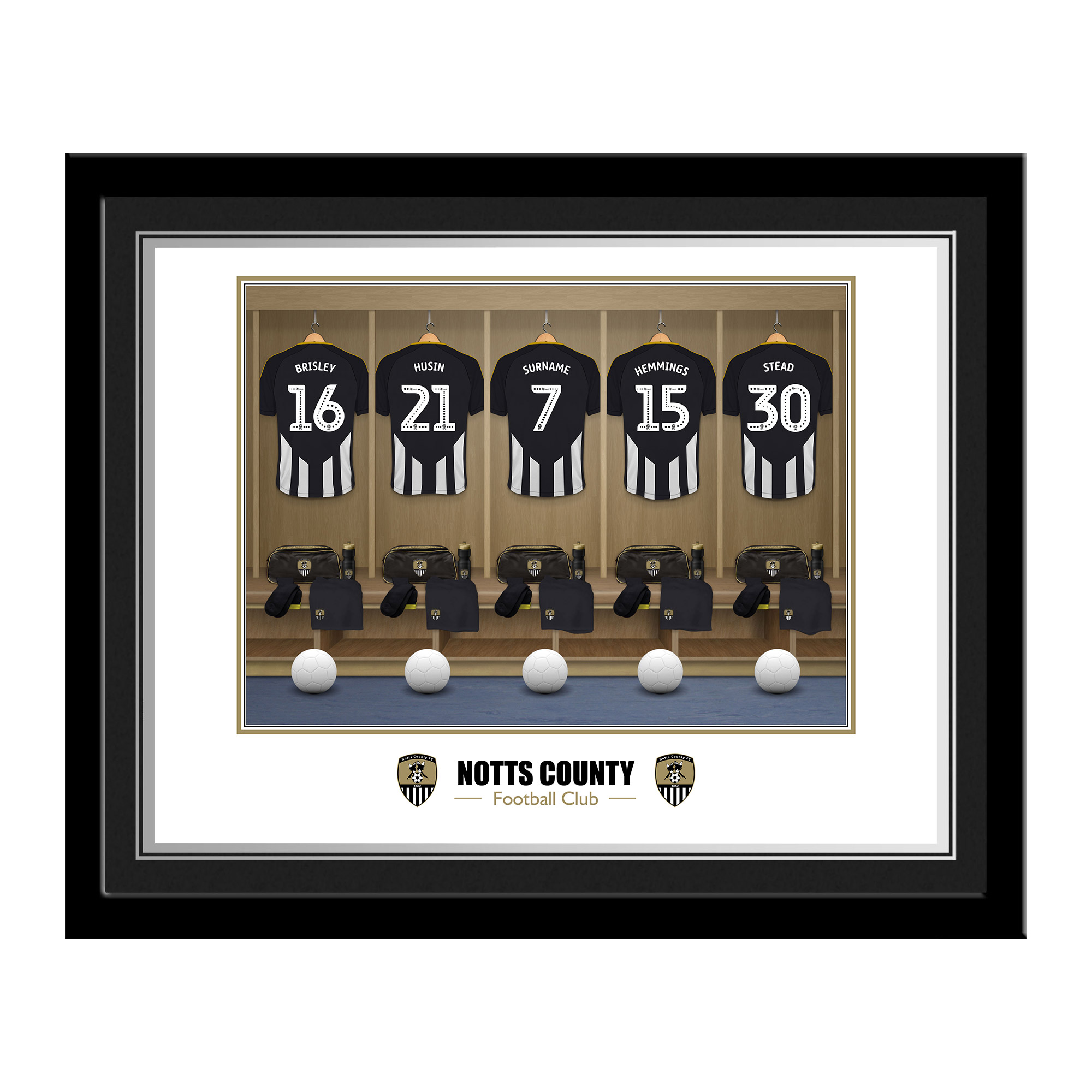 Notts County FC Dressing Room Photo Framed