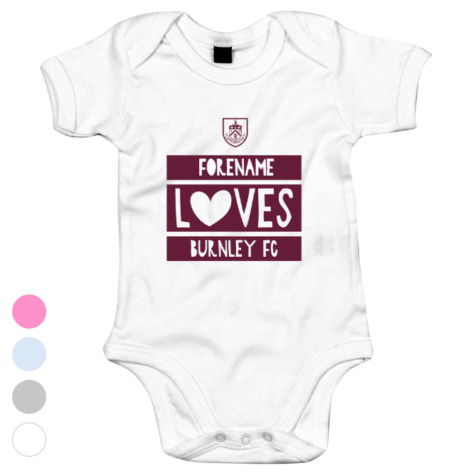 Burnley FC Loves Baby Bodysuit