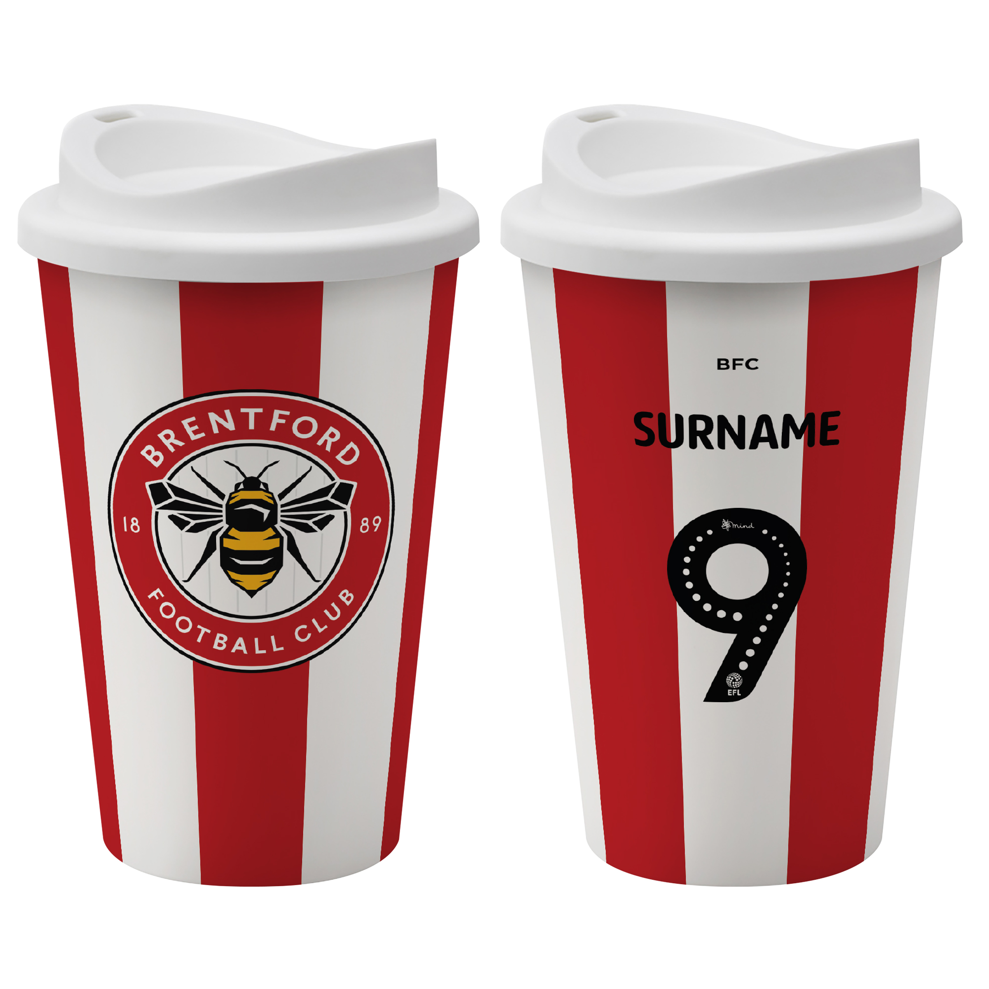 Brentford FC Back of Shirt Reusable Cup