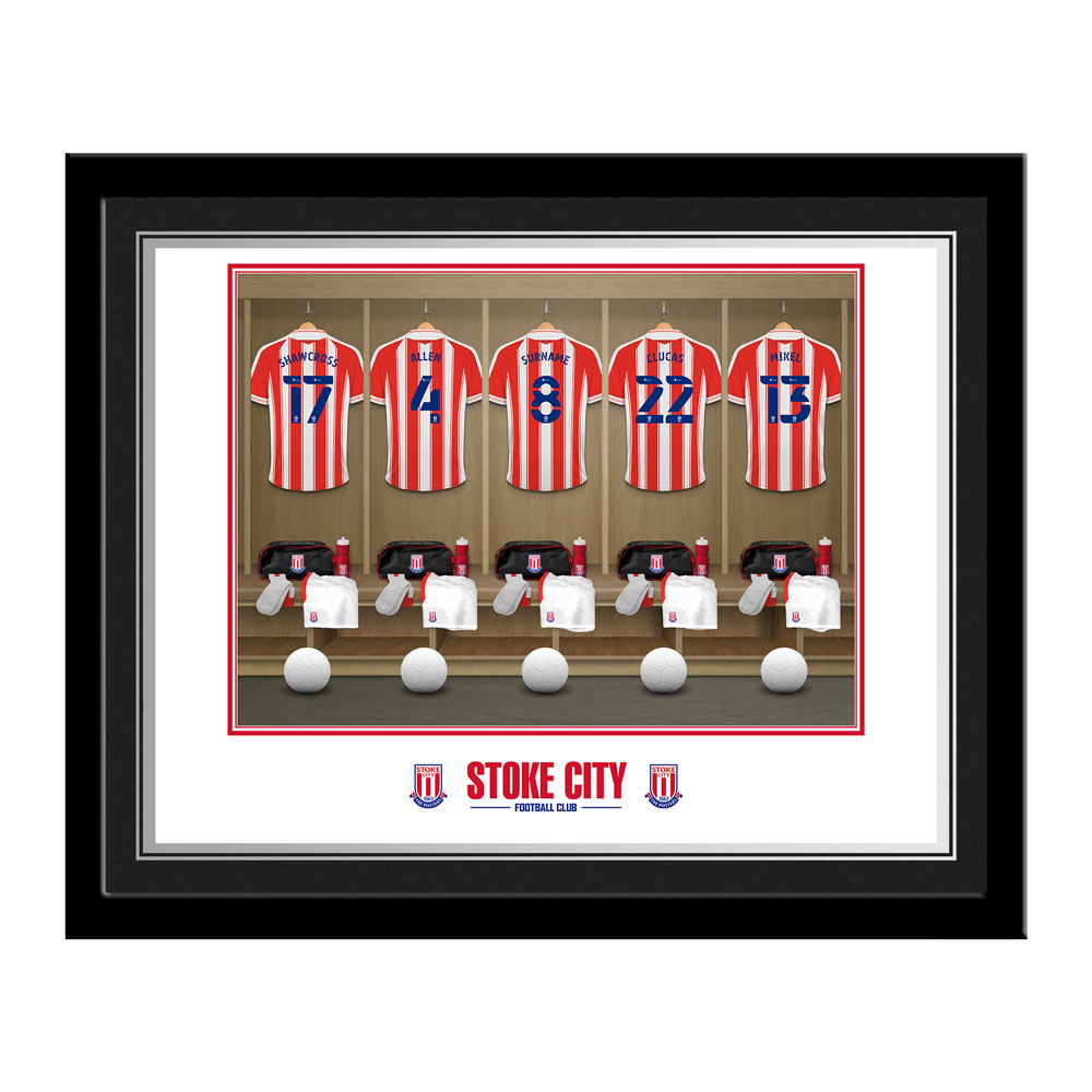 Stoke City FC Dressing Room Photo Framed