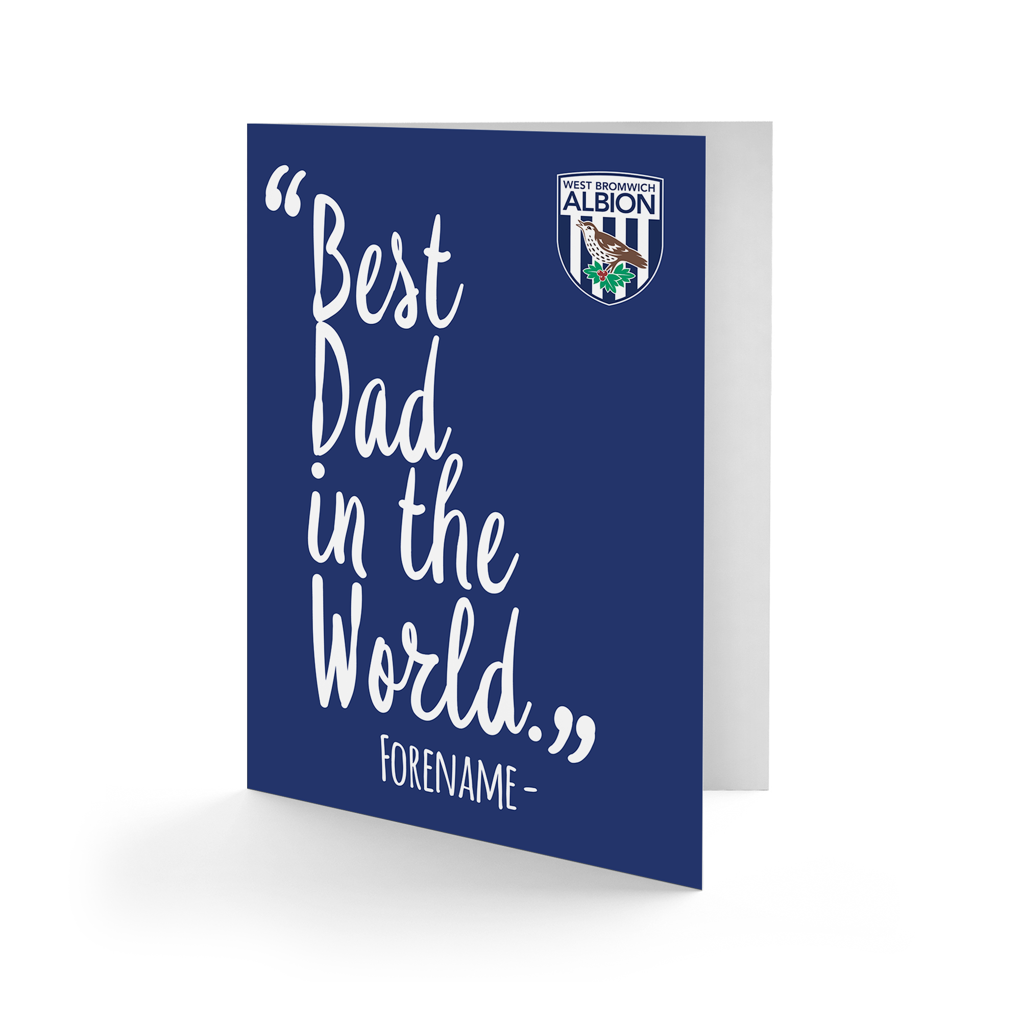 West Bromwich Albion FC Best Dad In The World Card