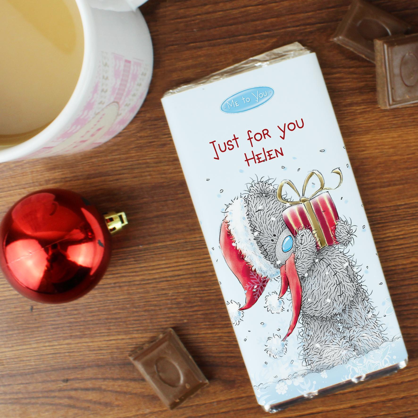 Personalised Me to You Christmas Bear Milk Chocolate Bar