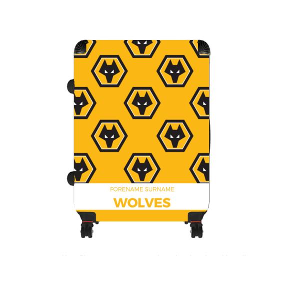 Wolverhampton Wanderers FC Mini Crest Large Suitcase