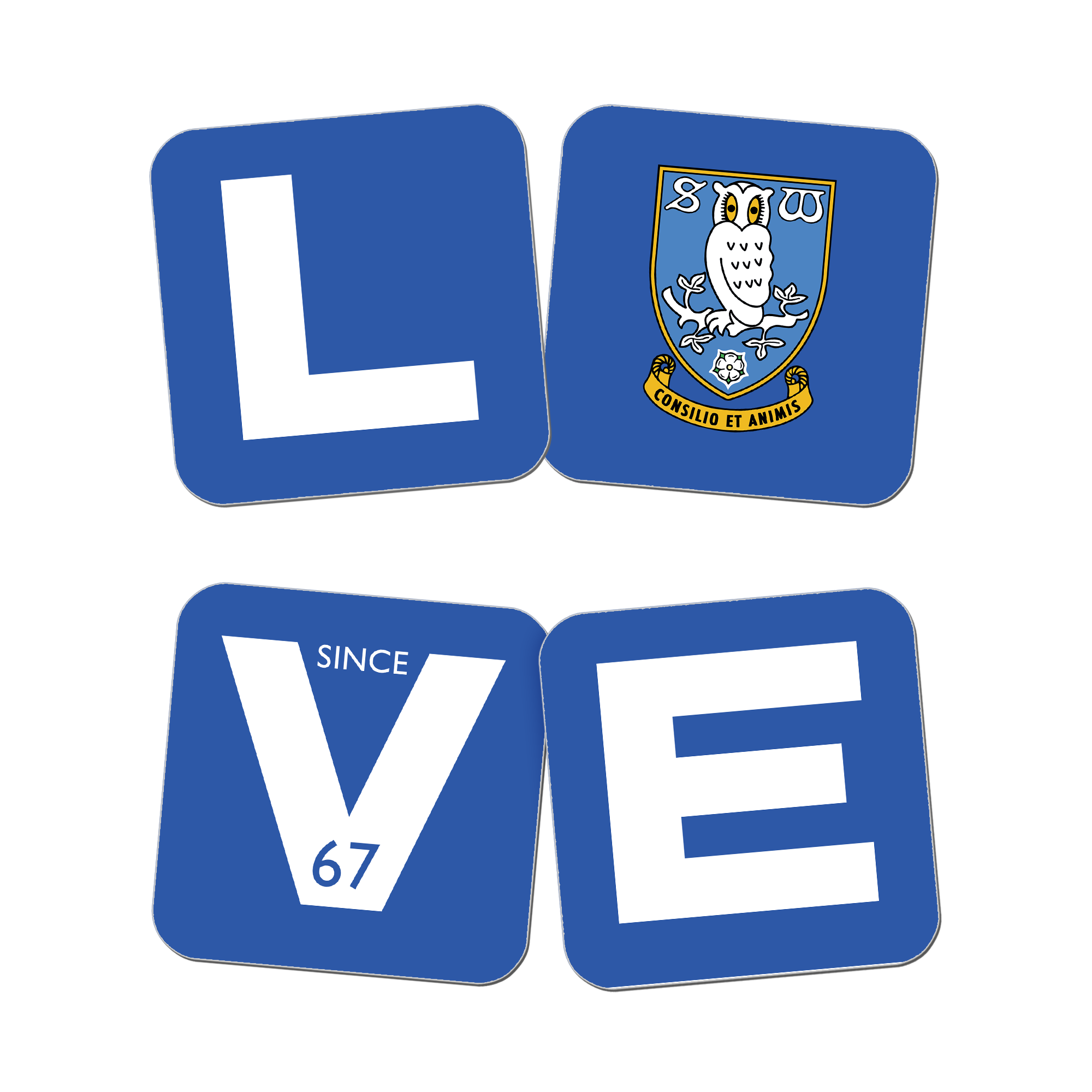 Sheffield Wednesday Love Coasters (x4)
