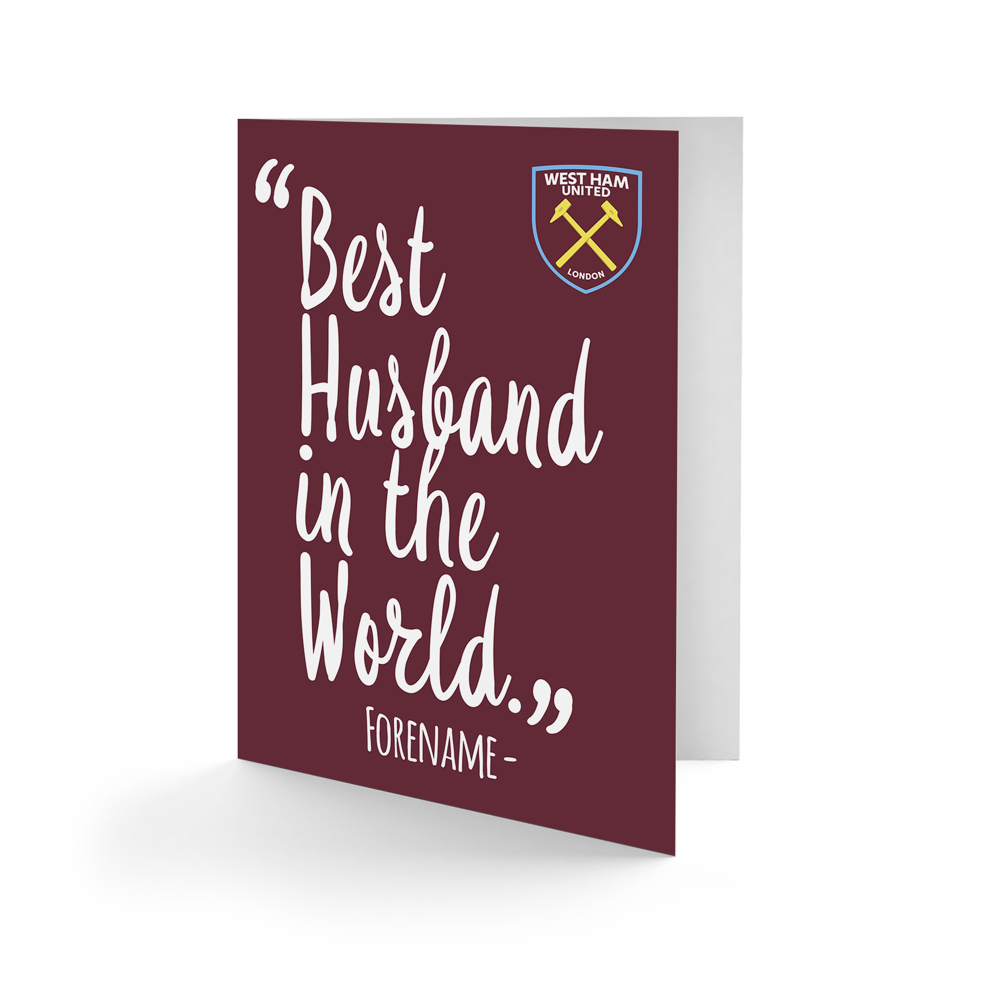 West Ham United FC Best Husband In The World Card