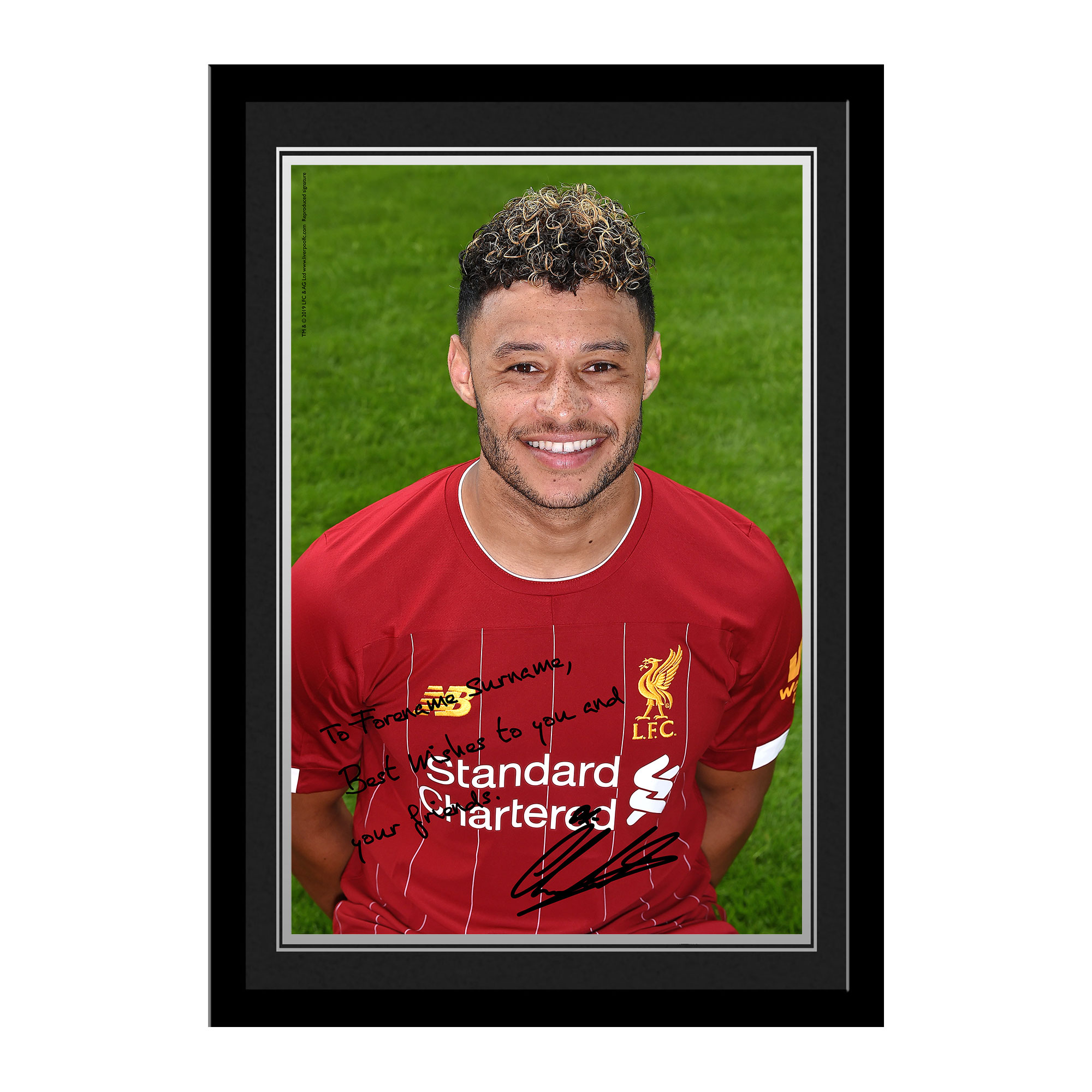 Liverpool FC Oxlade-Chamberlain Autograph Photo Framed