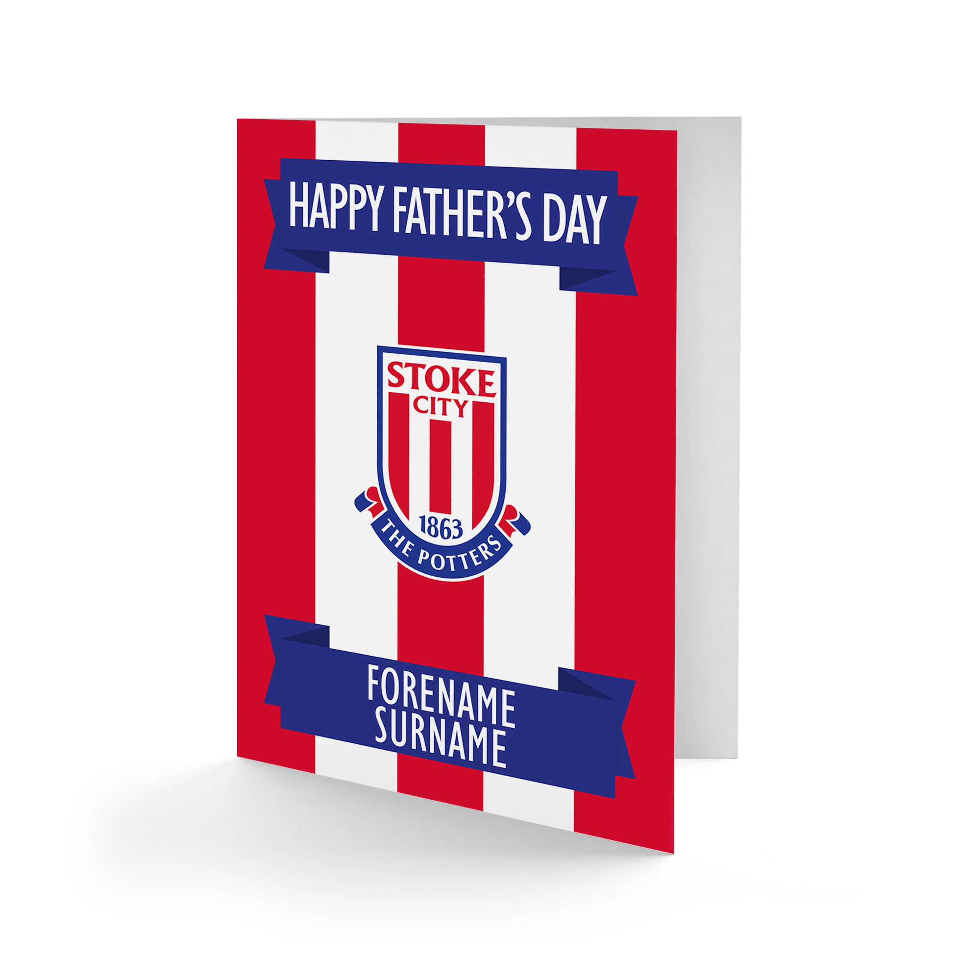 Stoke City FC Crest Father's Day Card