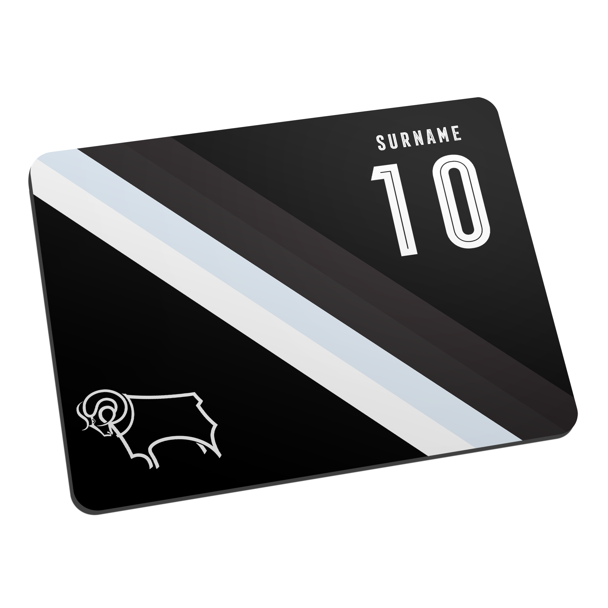 Derby County Stripe Mouse Mat