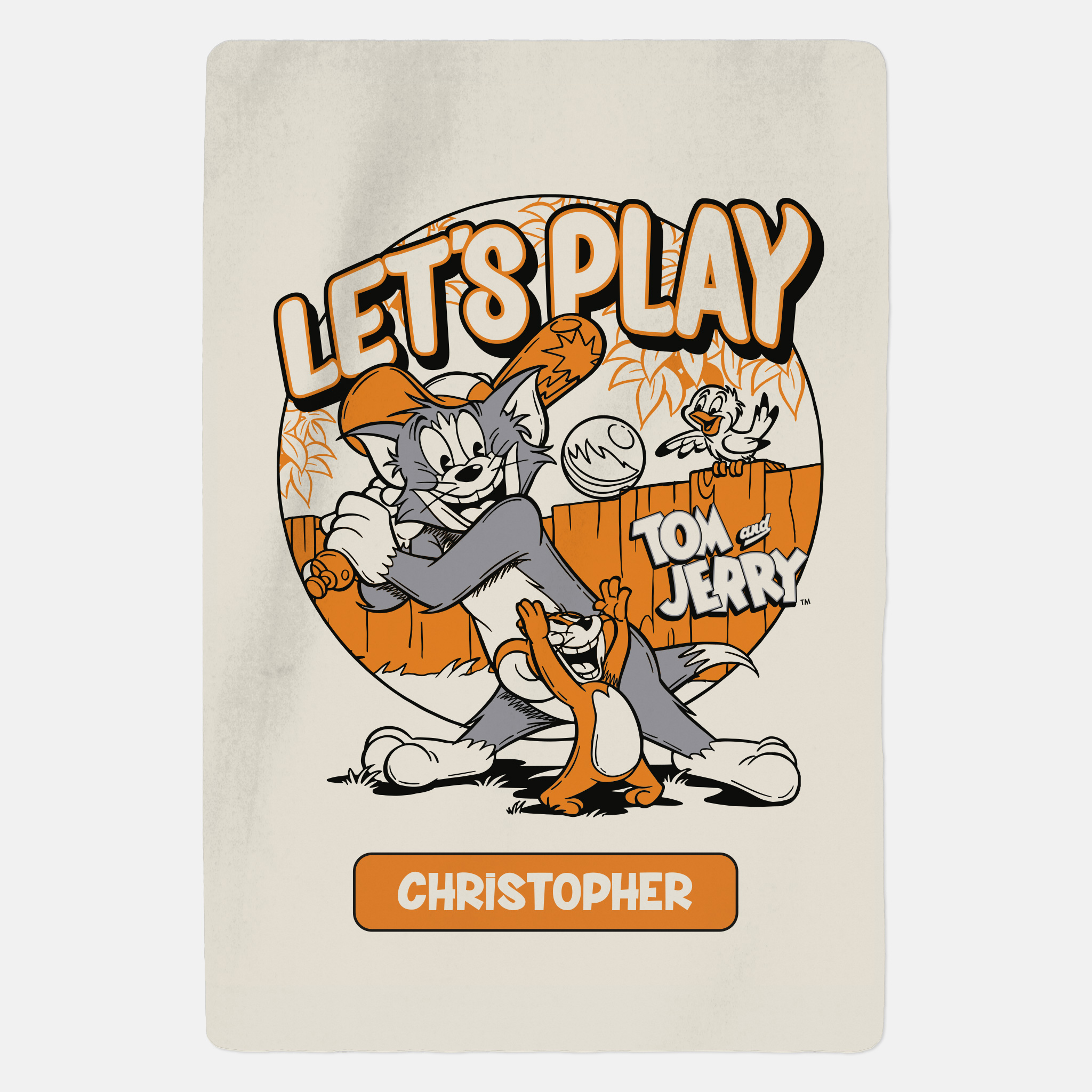 Tom and Jerry™ Personalised Blanket - Lets Play