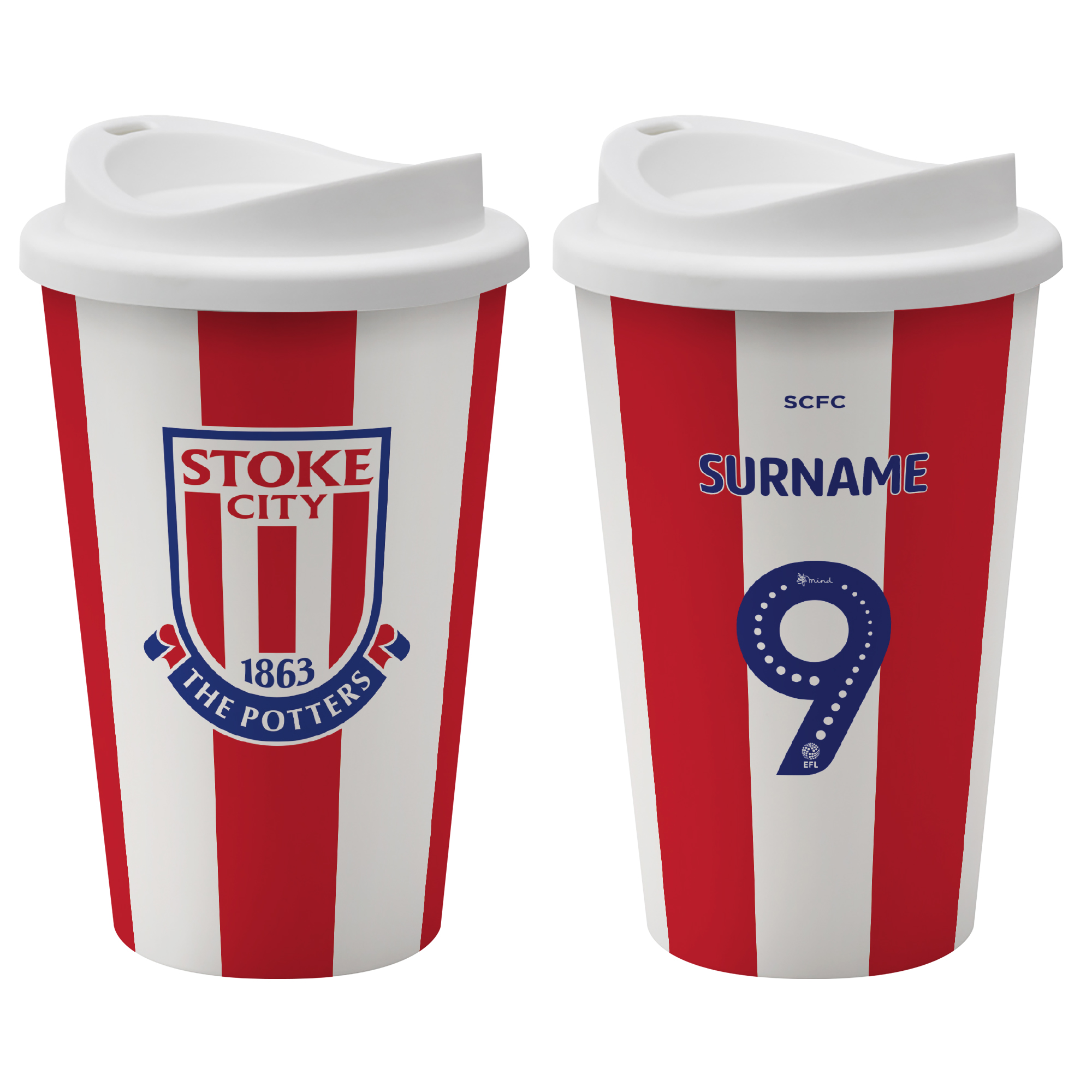 Stoke City FC Back of Shirt Reusable Cup