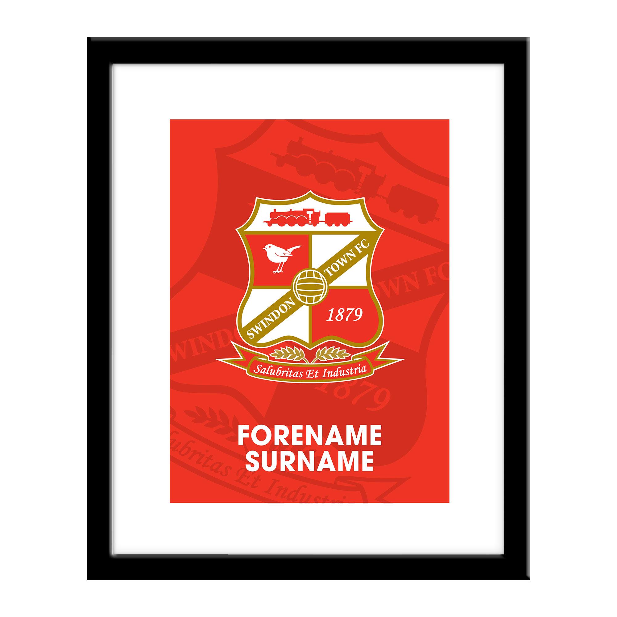 Swindon Town Bold Crest Print