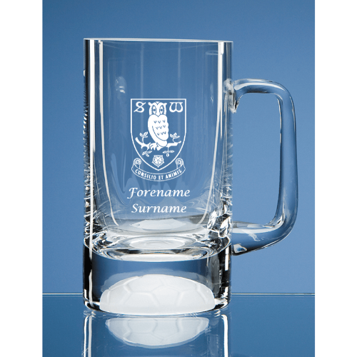 Sheffield Wednesday FC Crest Half Pint Ball Base Tankard