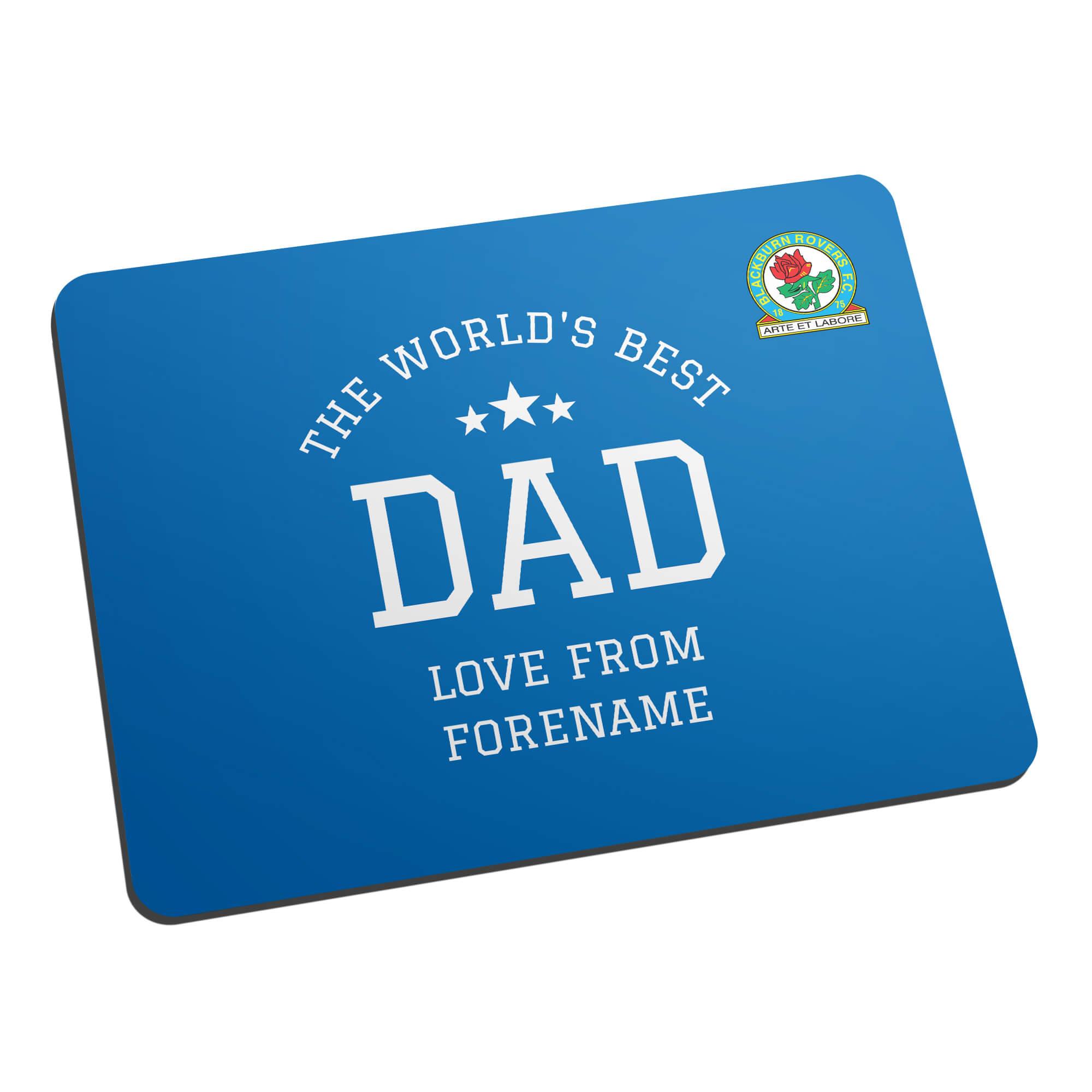 Blackburn Rovers FC World's Best Dad Mouse Mat