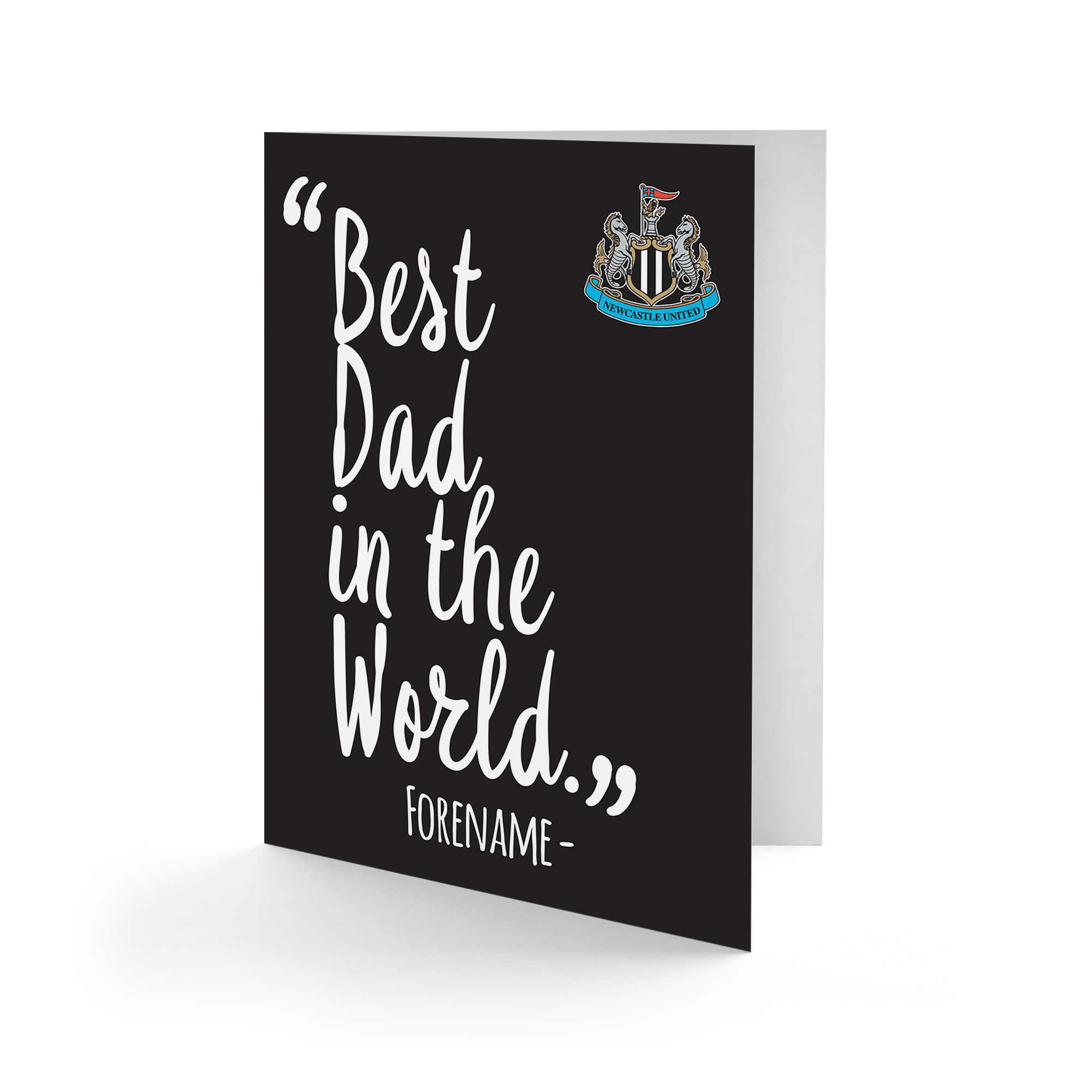 Newcastle United FC Best Dad In The World Card
