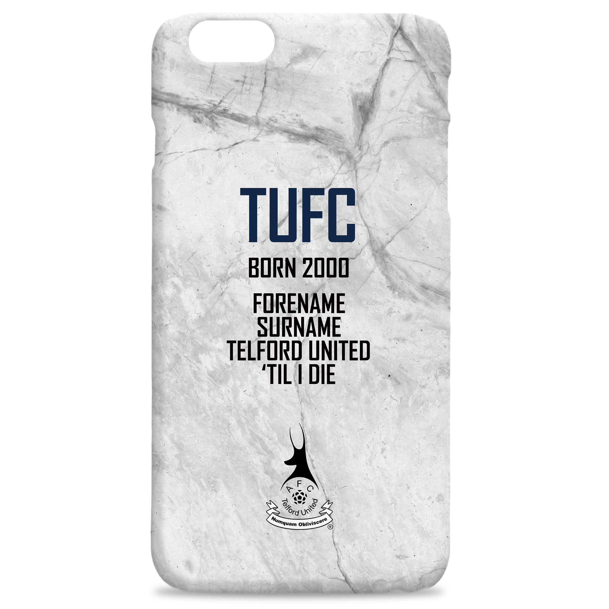 AFC Telford United 'Til I Die Hard Back Phone Case
